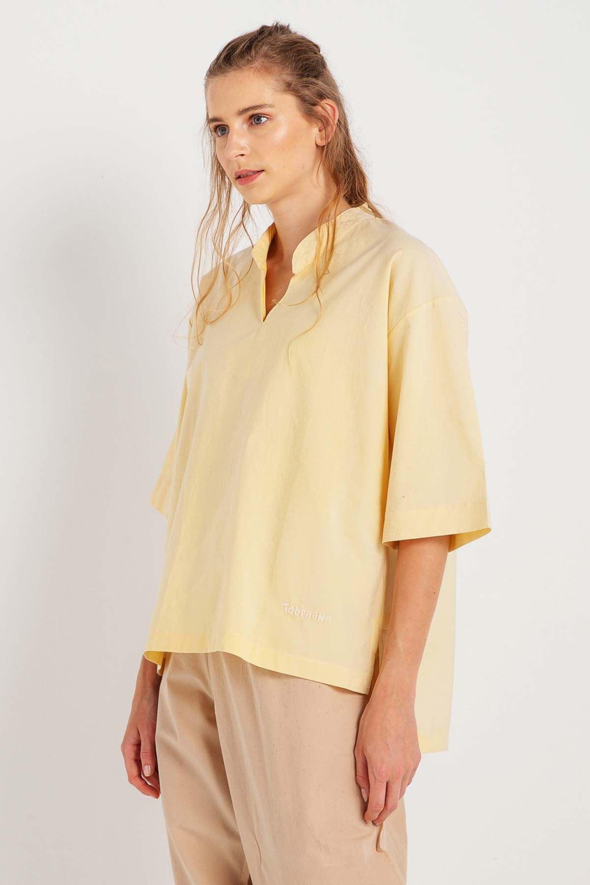 Bahar - V Yaka Yarım Kollu Bluz K1410