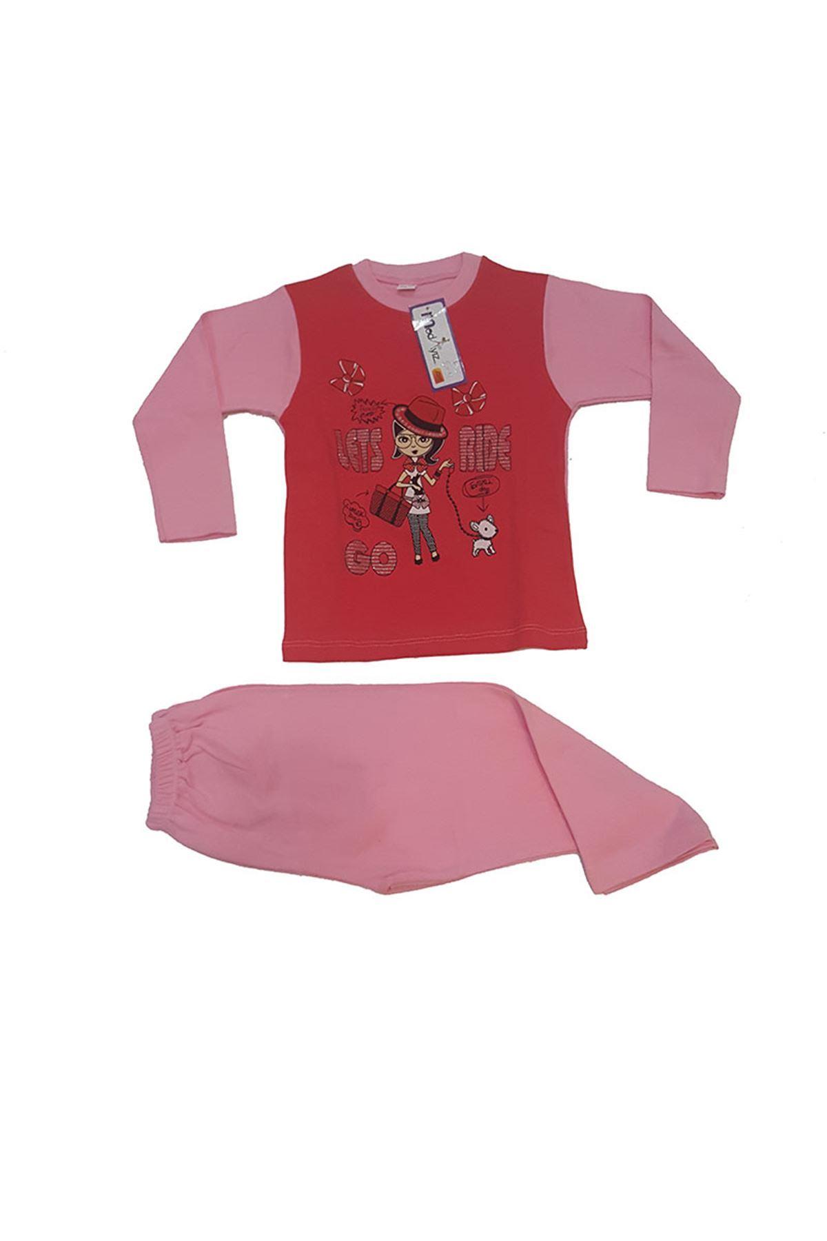 Baskılı Çocuk Pijama Takımı 11B-145706