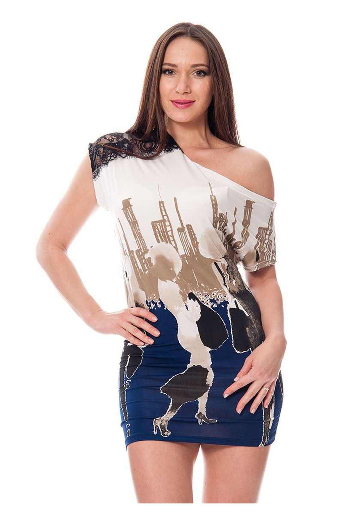Baskılı Kadın Elbise J10-112614