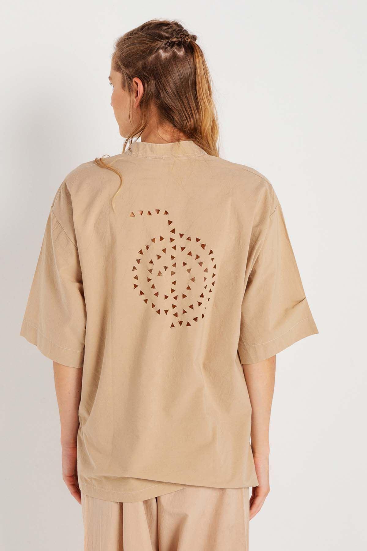 Bahar - V Yaka Yarım Kollu Bluz K1404