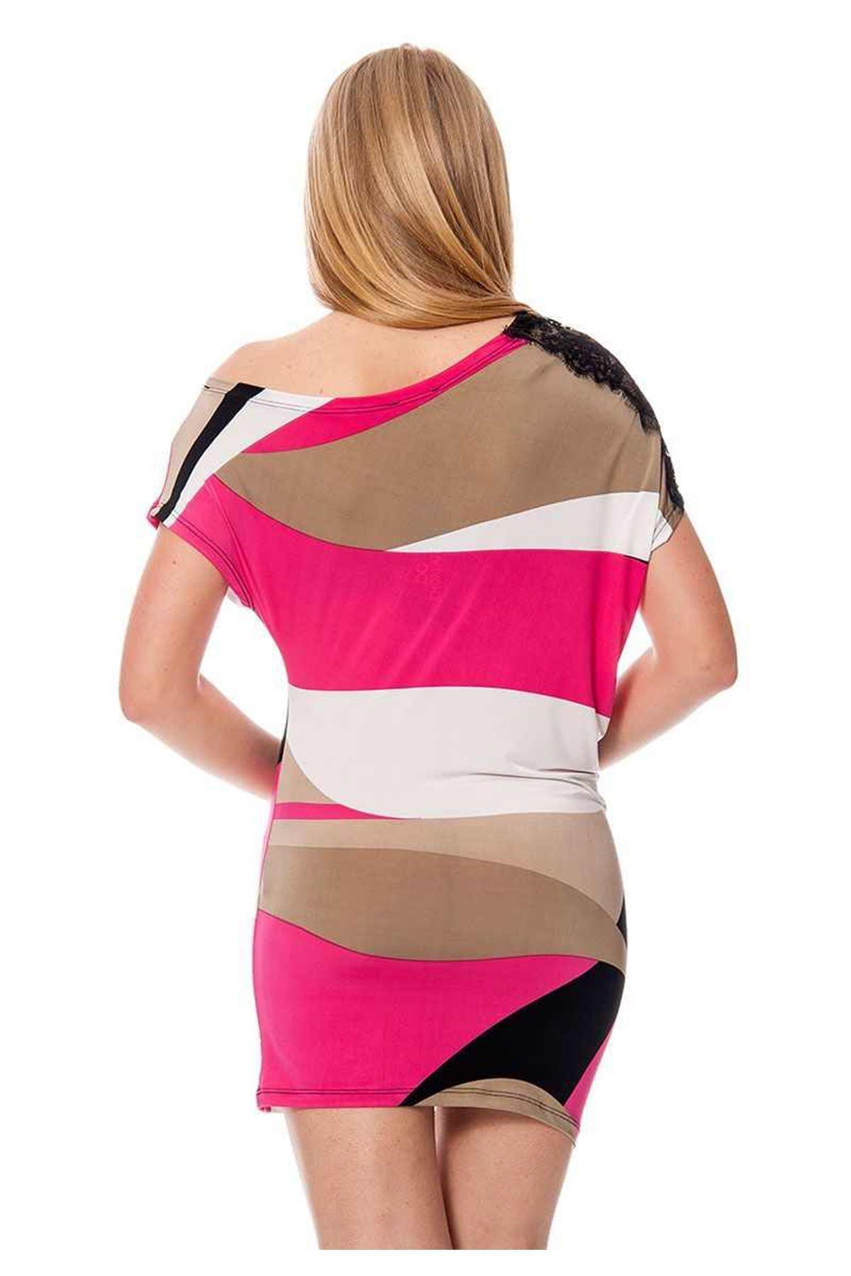 Baskılı Kadın Elbise H7-111714