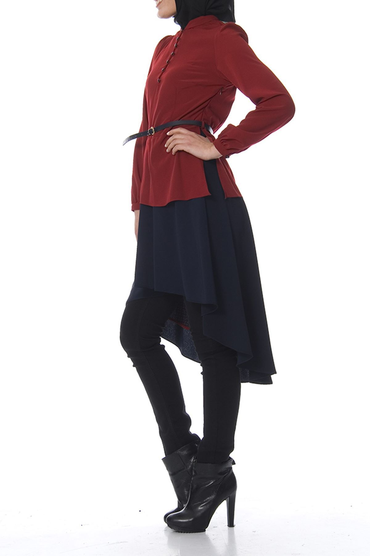 Bordo - Lacivert Tunik J7-100438