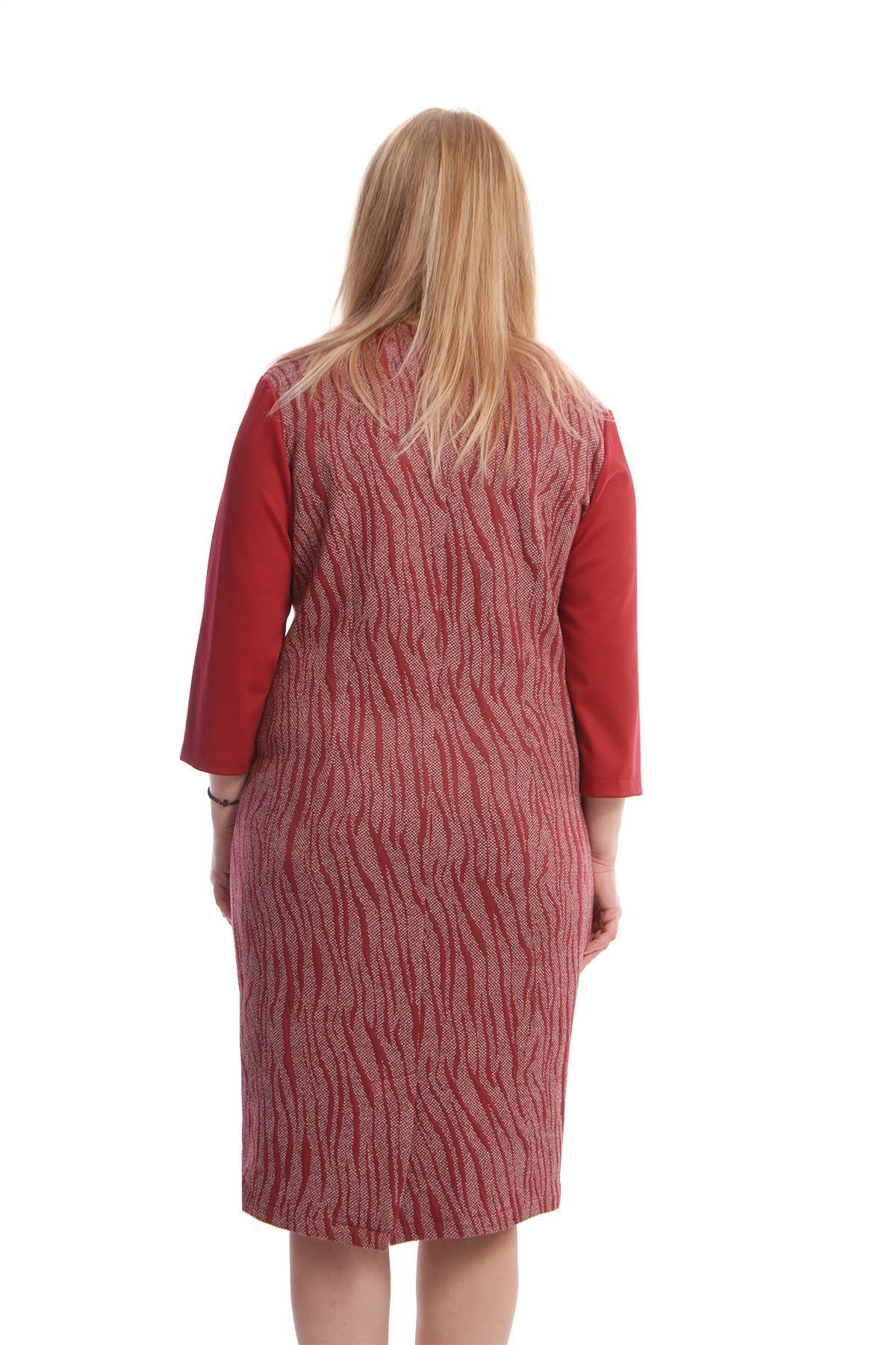 Bordo Elbise H10-66675
