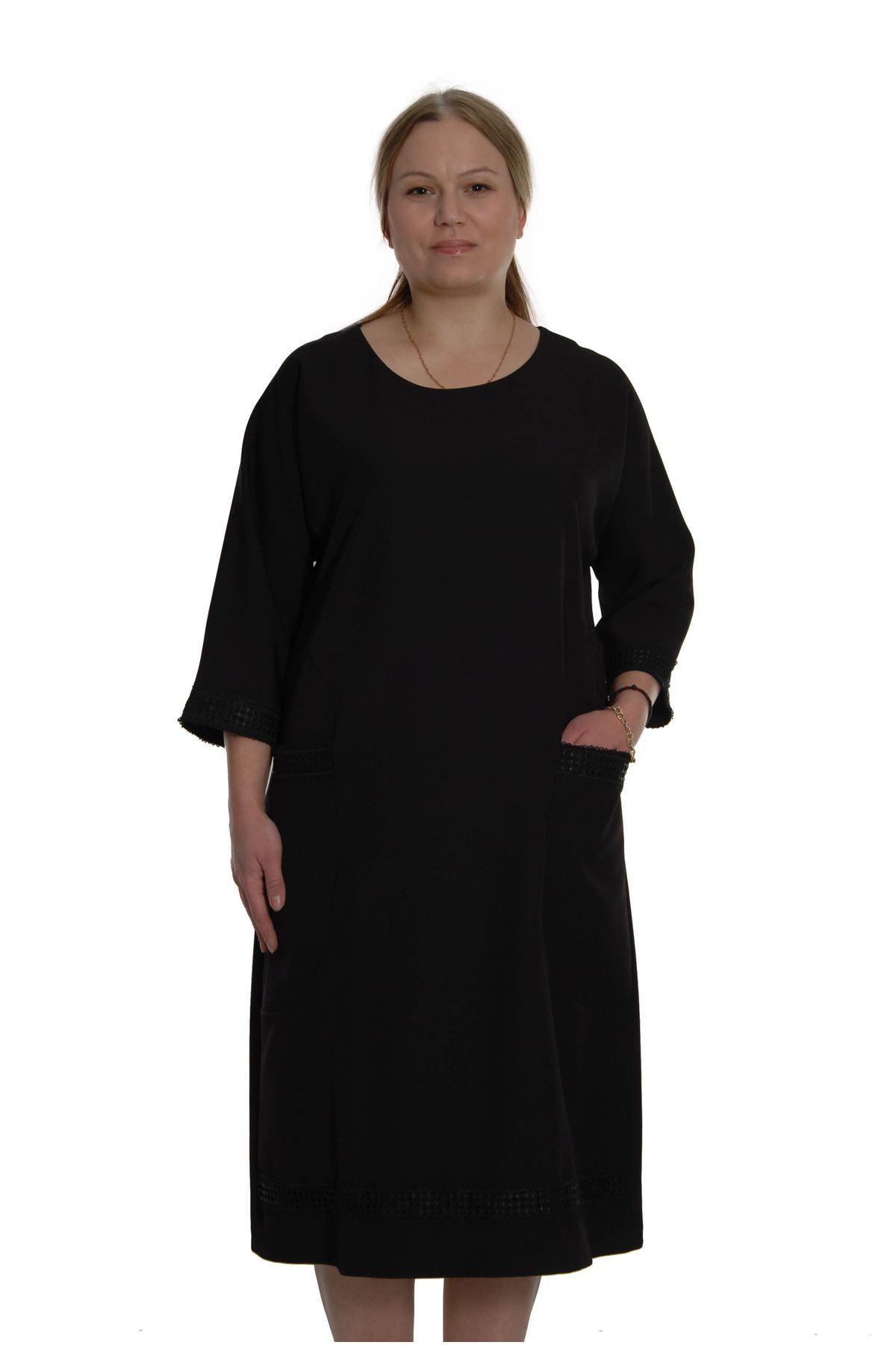 Büyük Beden Cepli Elbise H2-69088