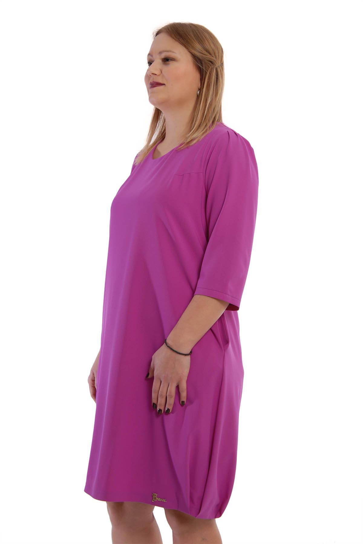 Büyük Beden Balon Elbise I4-65188