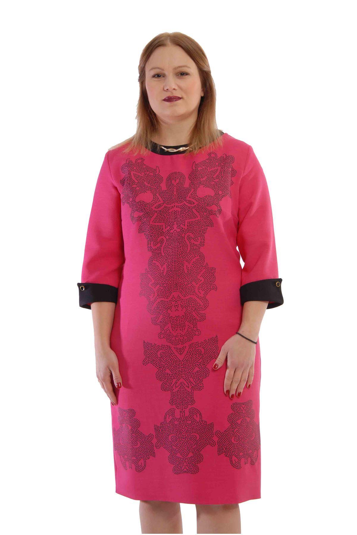 Büyük Beden Dantelli Elbise J3-52803