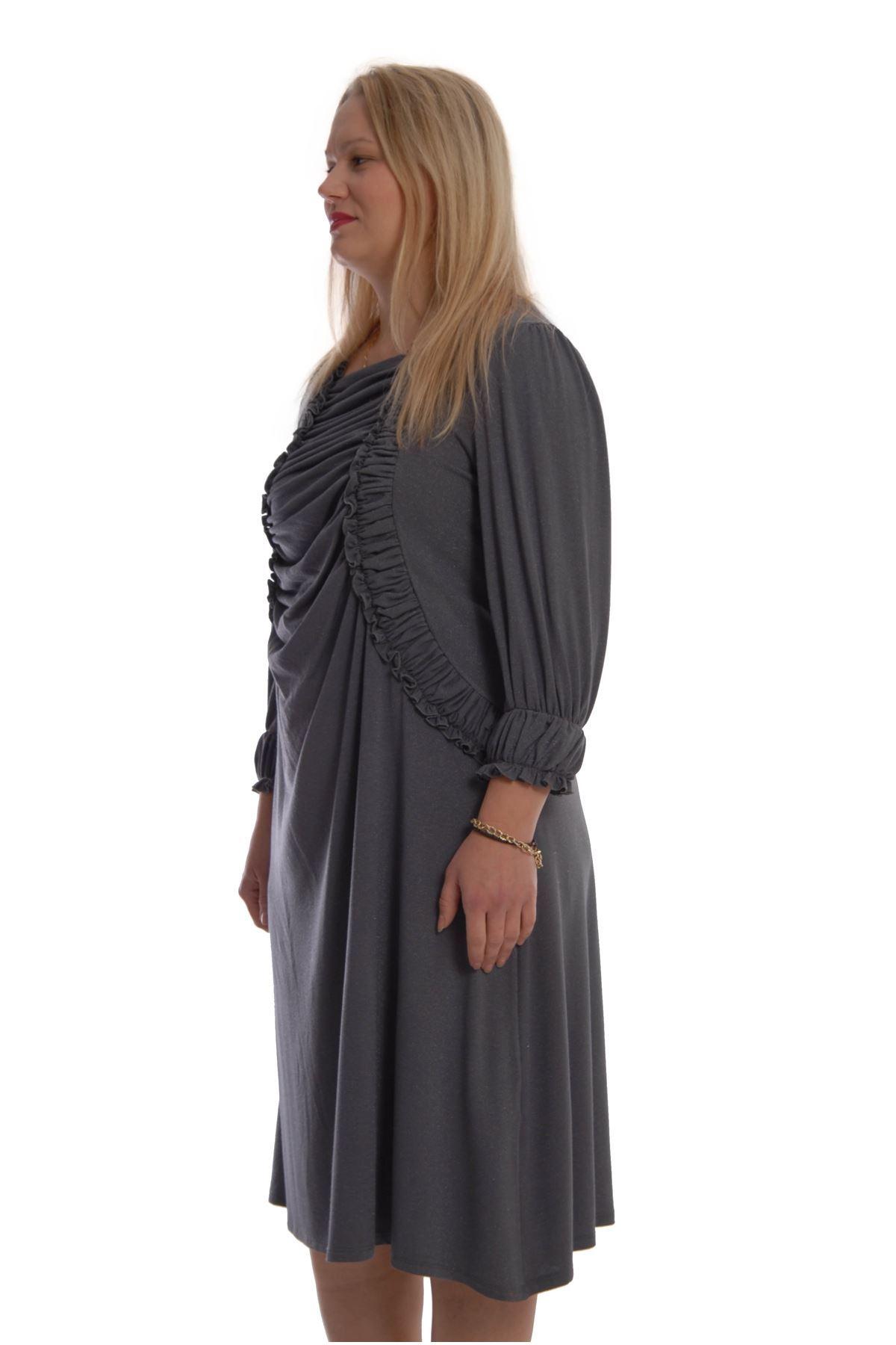 Büyük Beden Esnek Elbise K2-68770