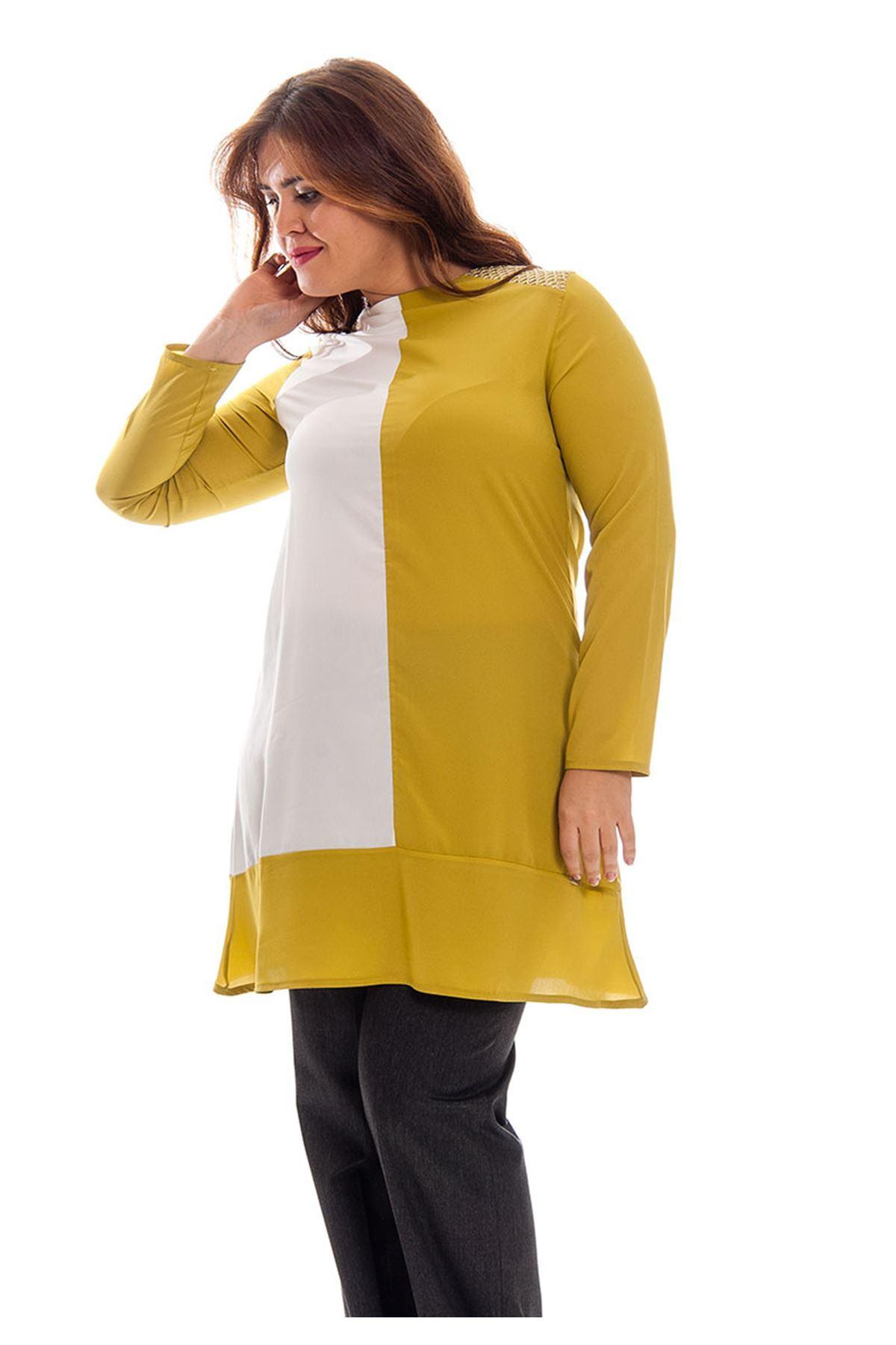 Büyük Beden İki Renk  Kadın Tunik K11-120781