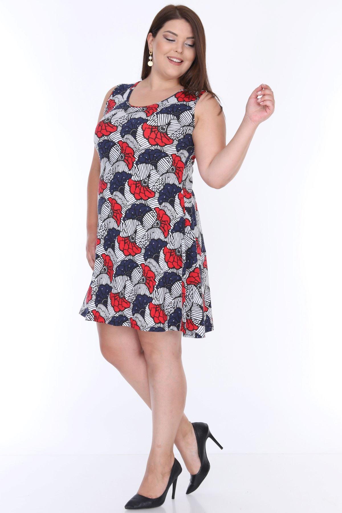 Çiçek Desenli Elbise 17B-0632