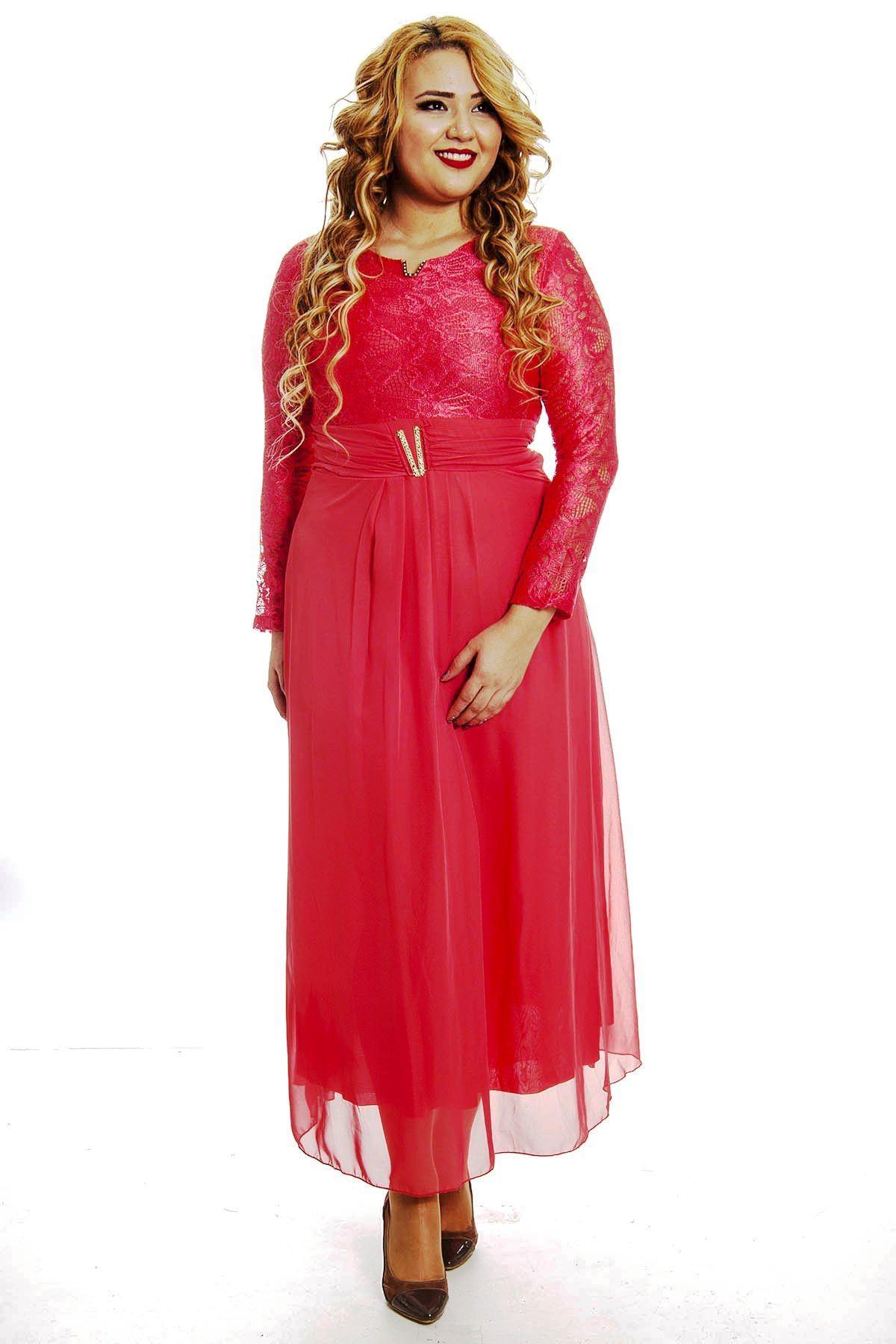 Dantelli Uzun Elbise F1-4863