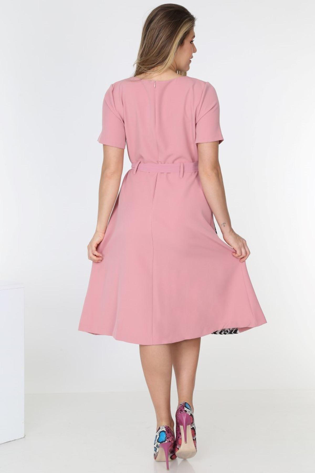 Garnili Yazlık Elbise H3-0547