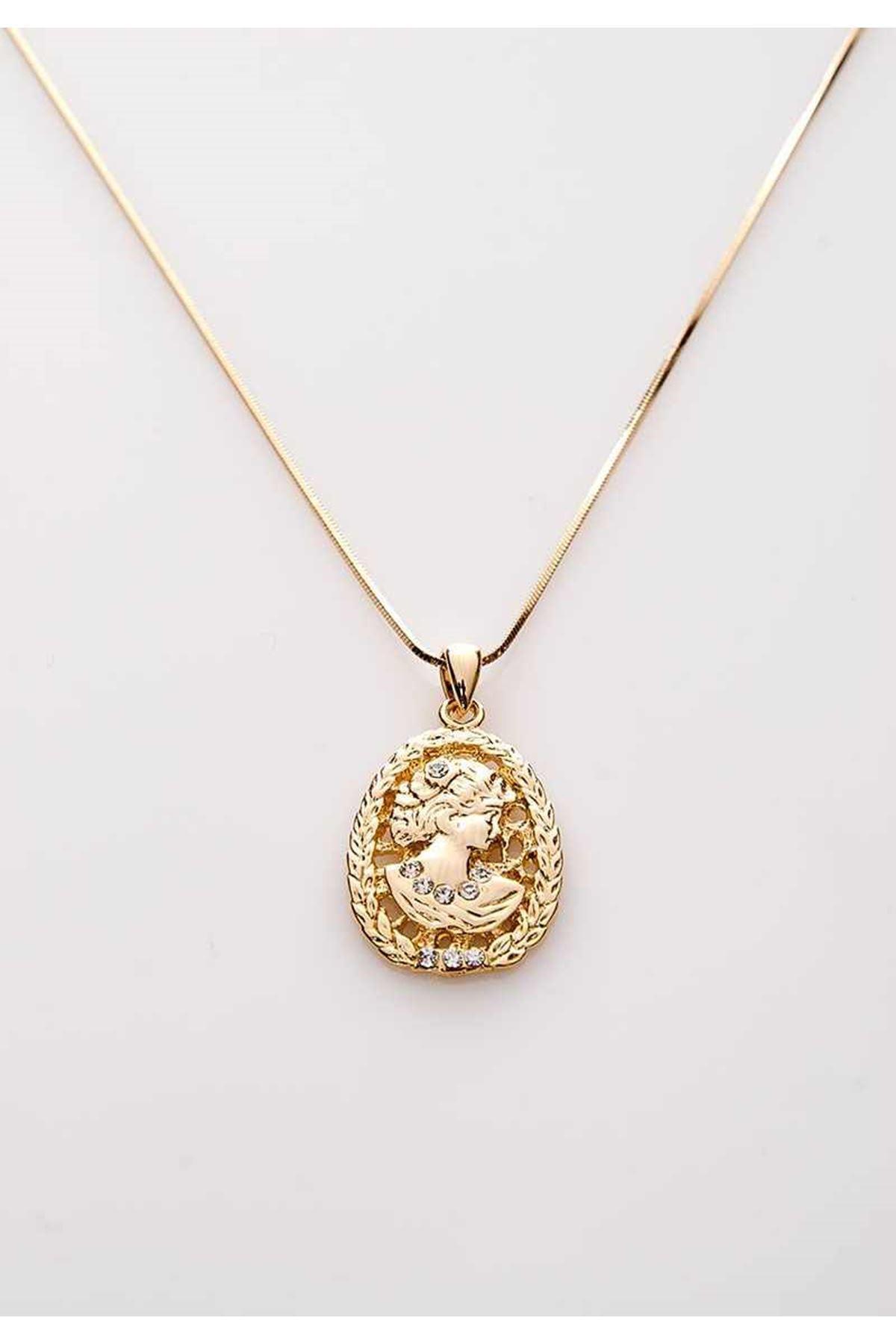 Gold Kolye 9Ç-107885