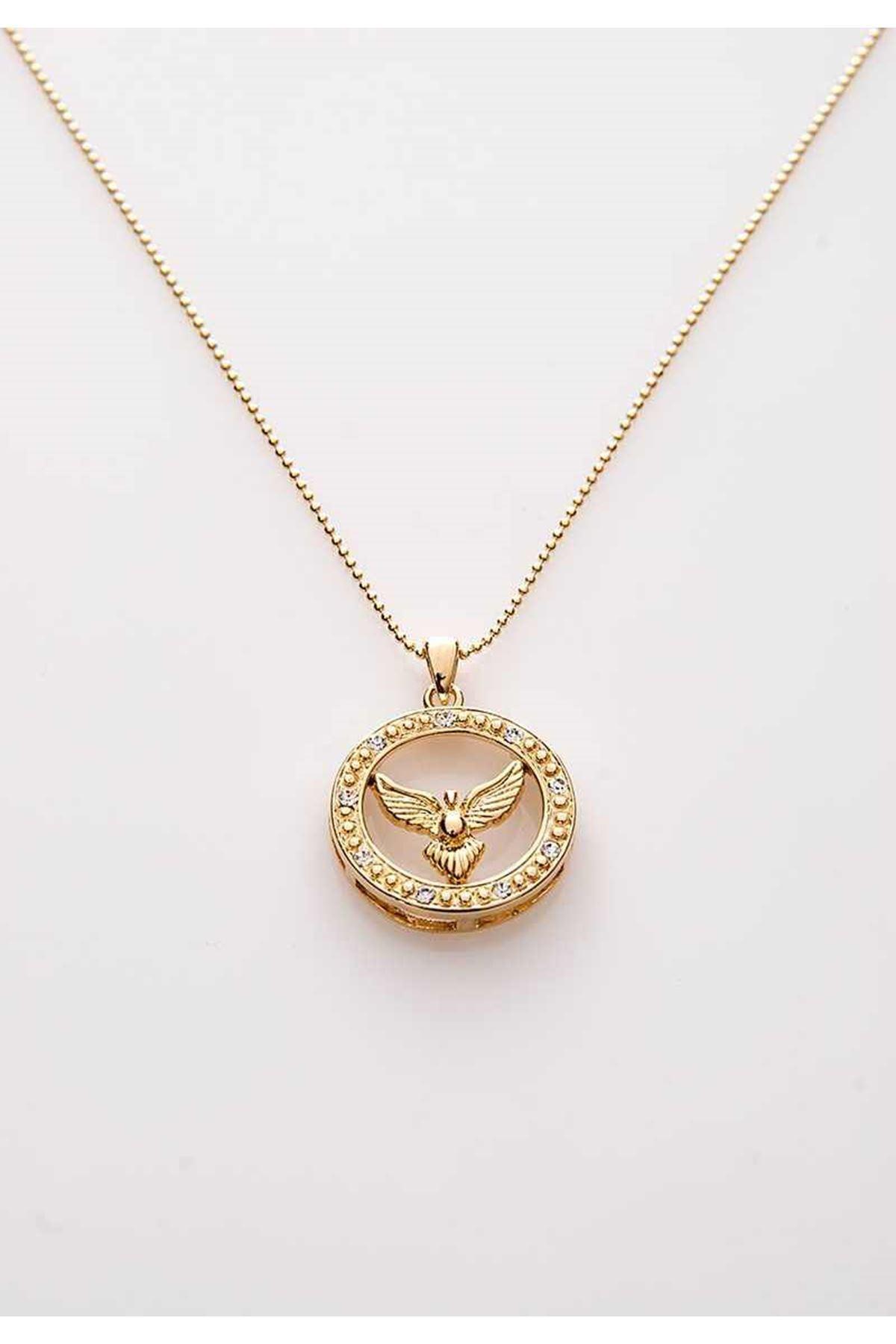 Gold Kartal Kolye 9Ç-107879