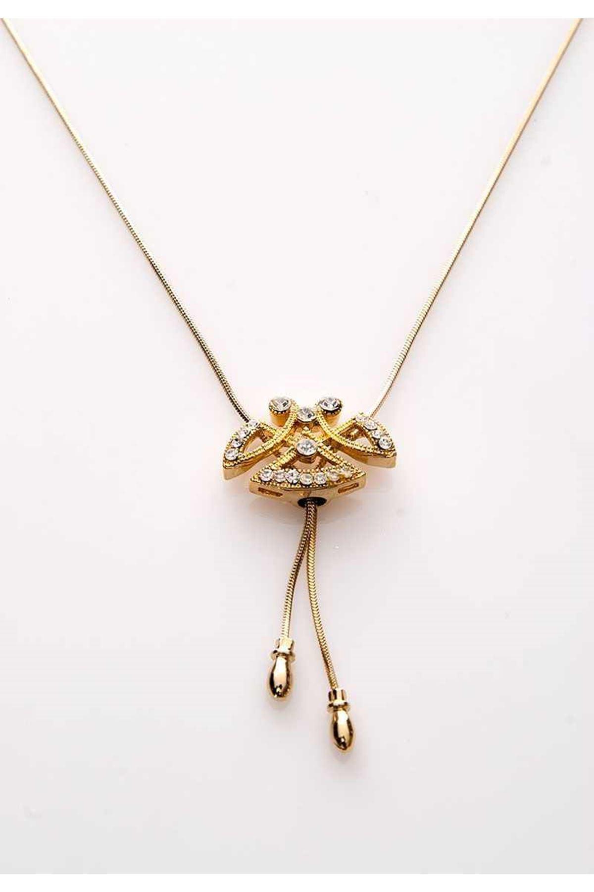 Gold Taşlı Kolye 11Ç-107826