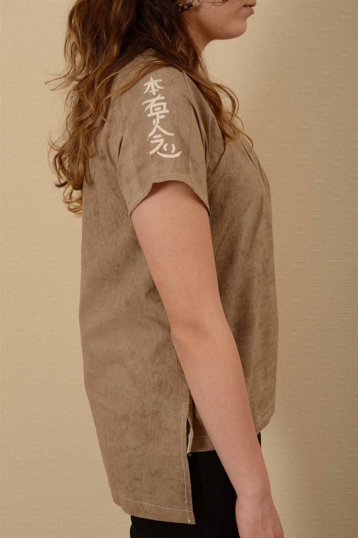 İnci – Pileli Kısa Kollu Bluz K1604