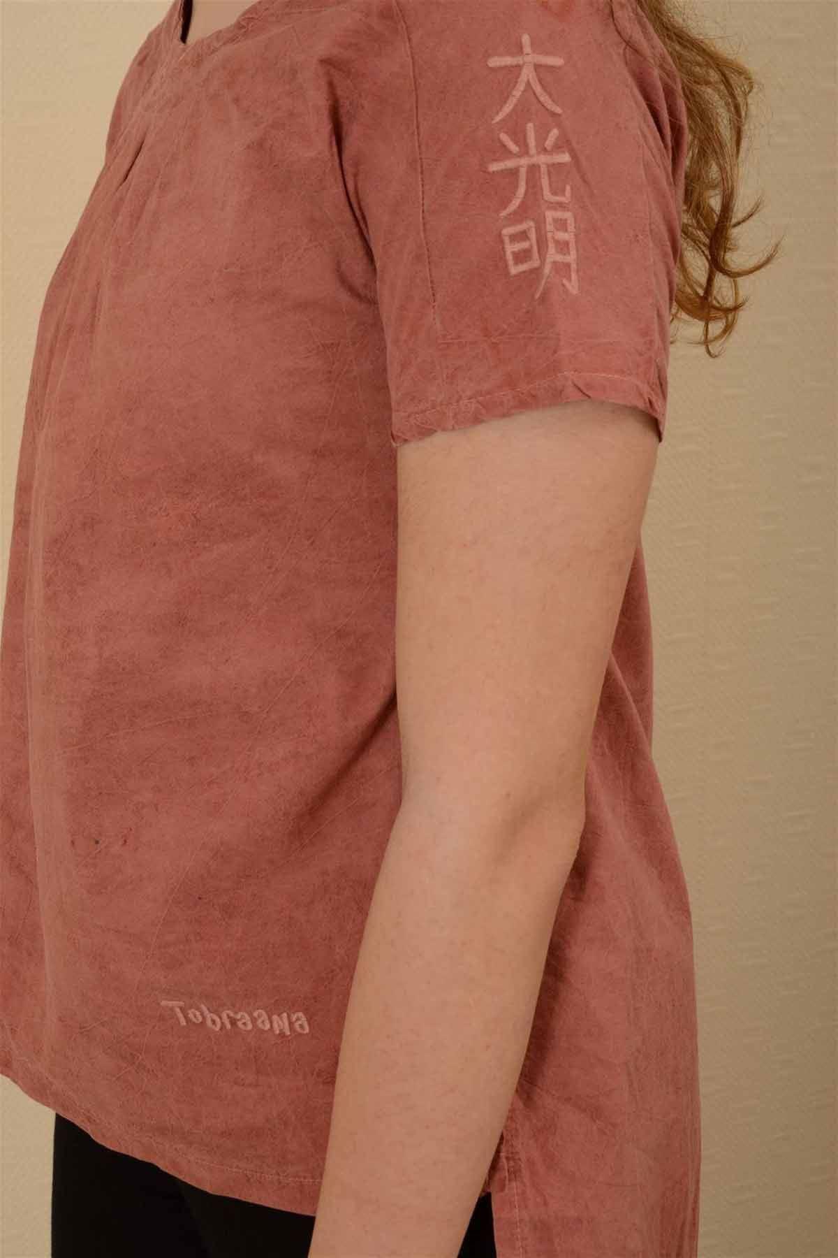İnci - Pileli Kısa Kollu Bluz K1605