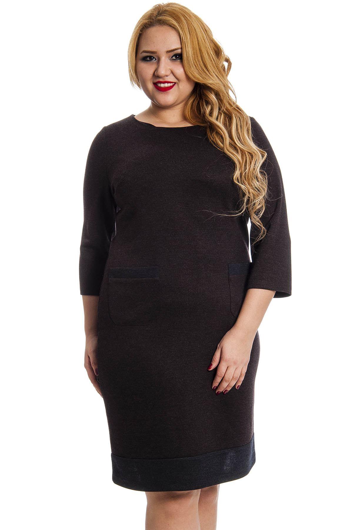 Kahverengi Cepli Kadın Elbise G4-127370