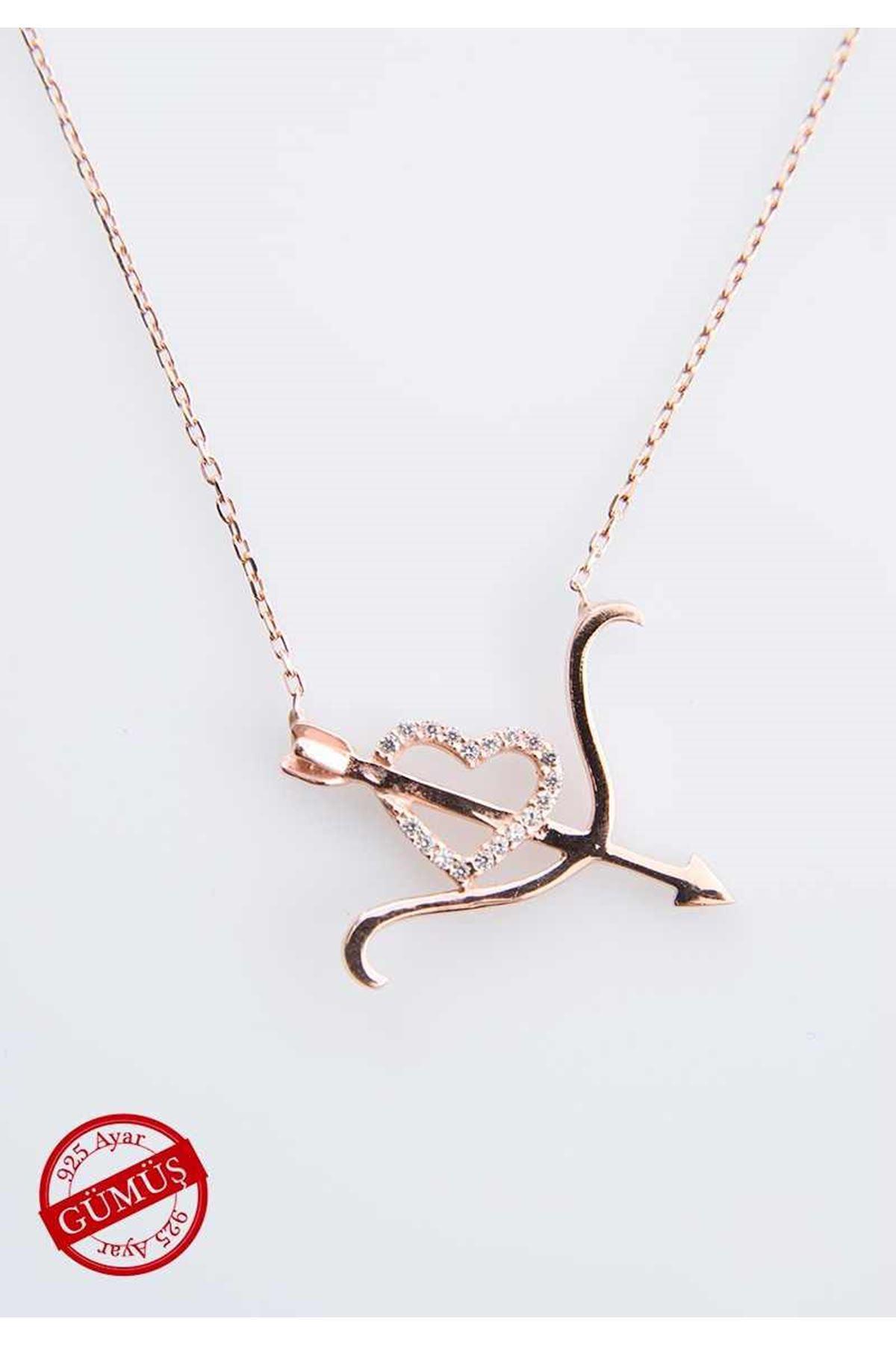 Kalpli Gümüş Kolye Gk-71301