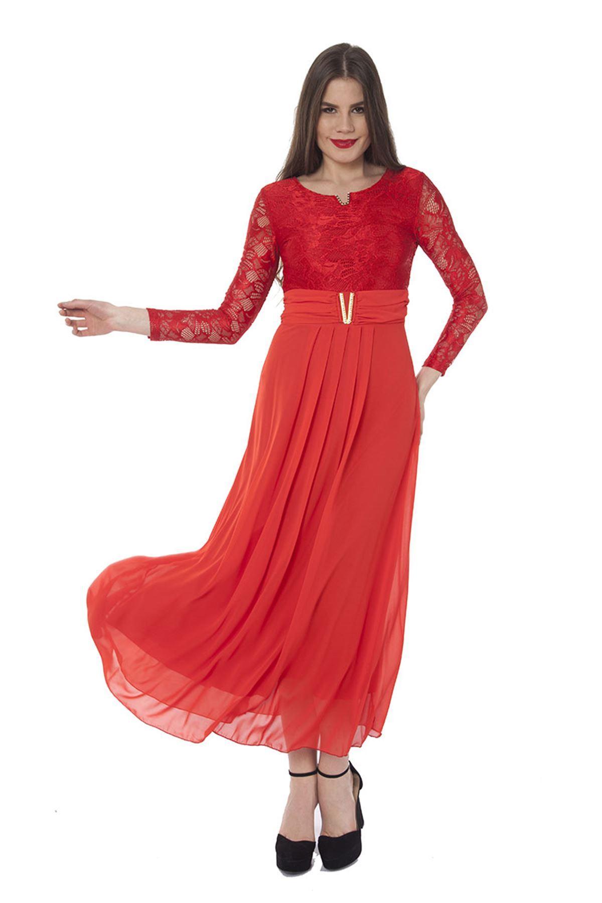 Kırmızı Elbise K2-82869