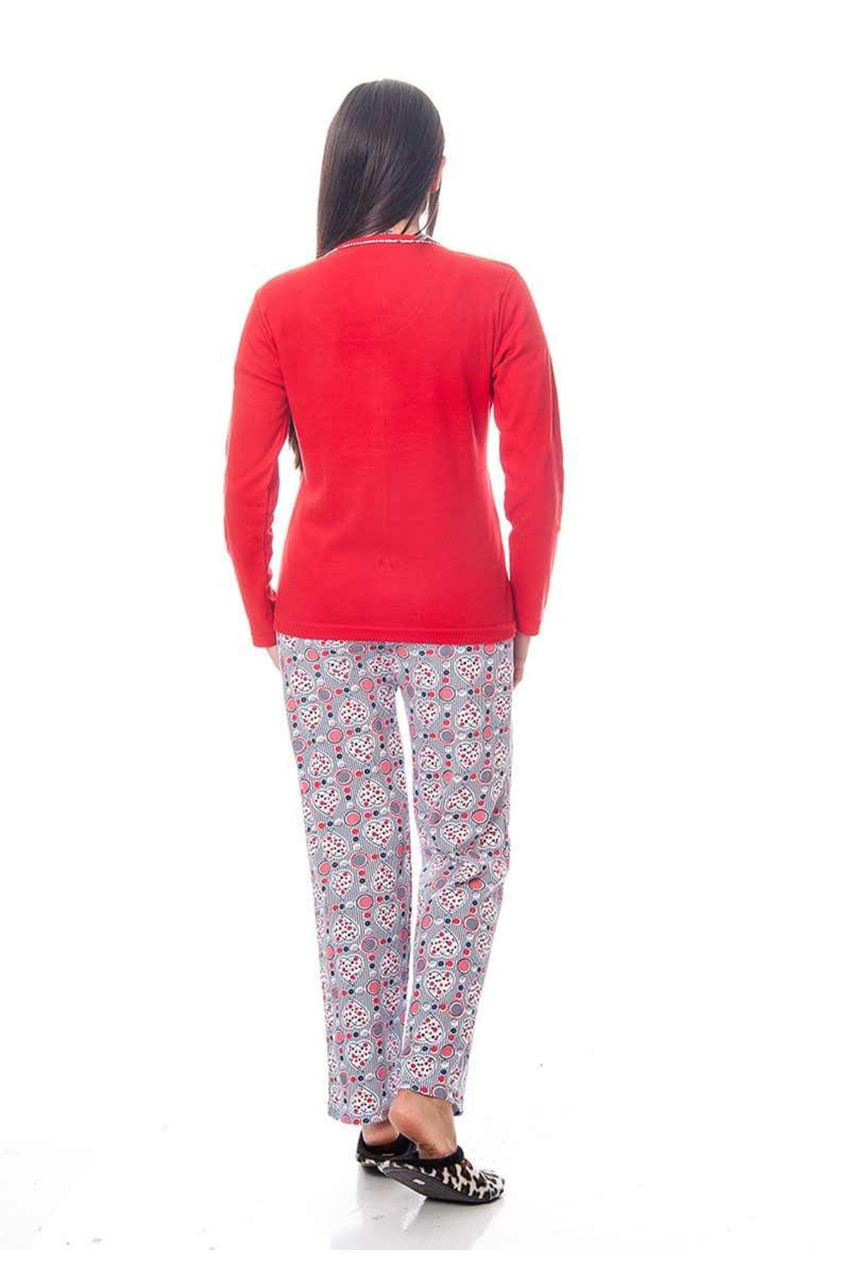 Kırmzı Kadın Pijama Takımı 14D-118768