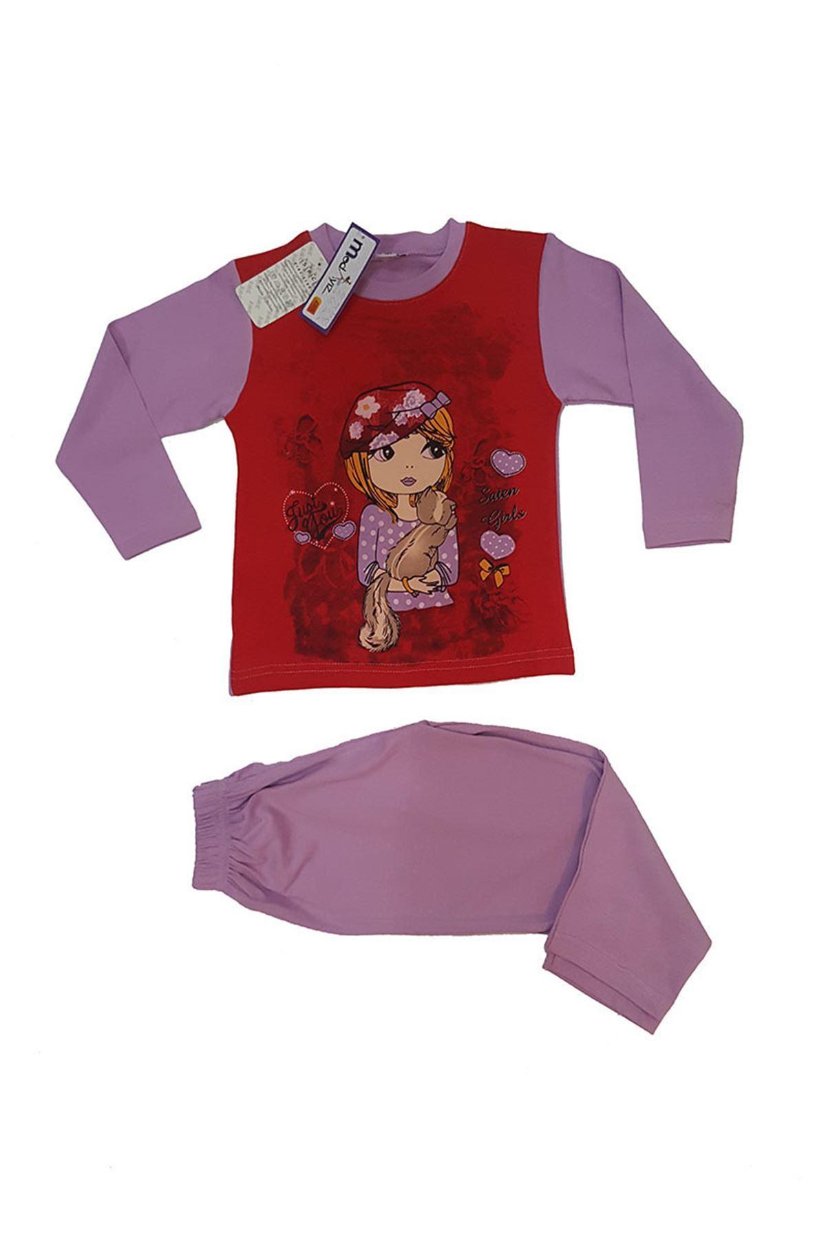 Kız Çocuk Pijama Takım 11B-58966