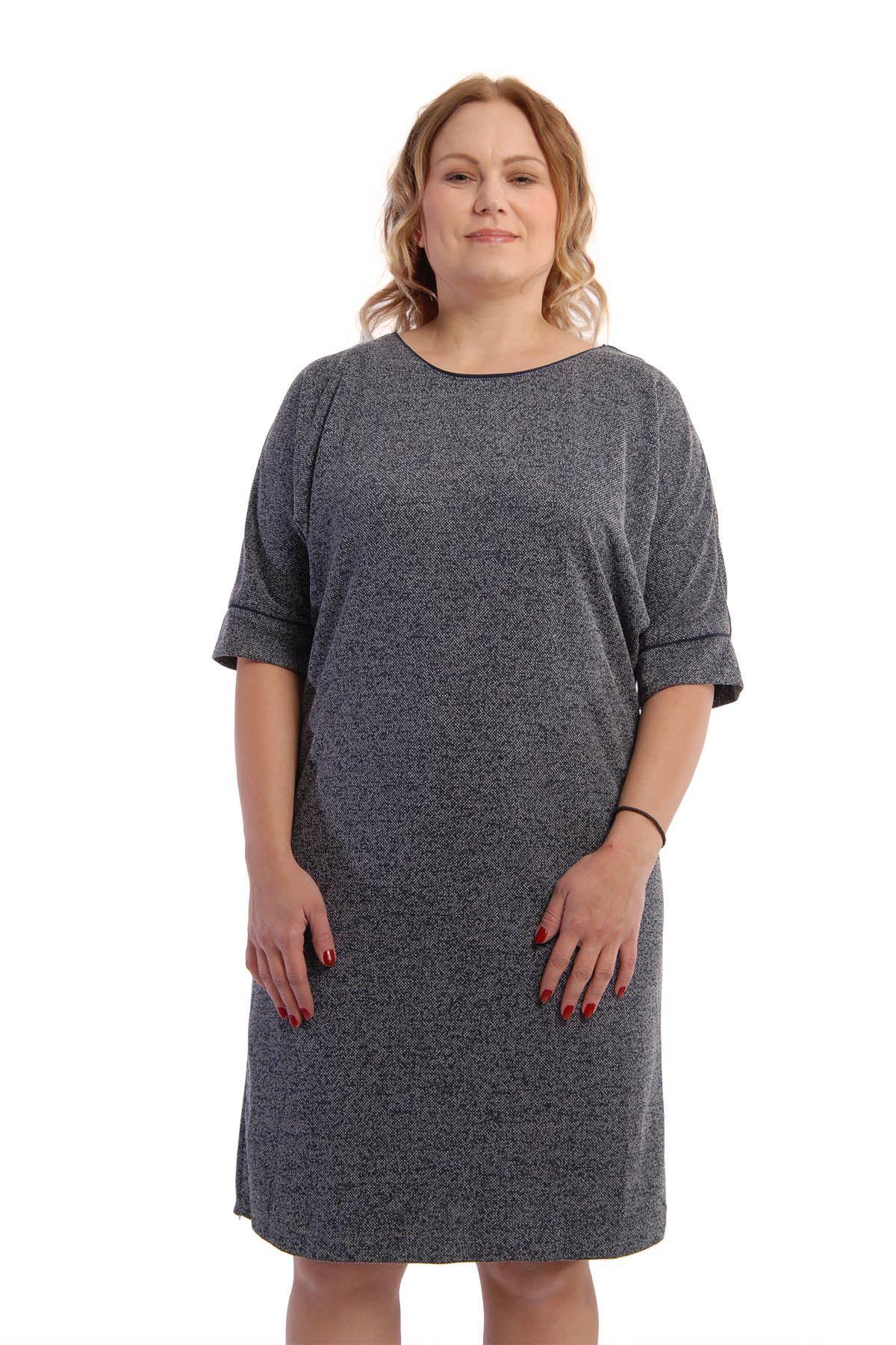 Lacivert Elbise K6-54938