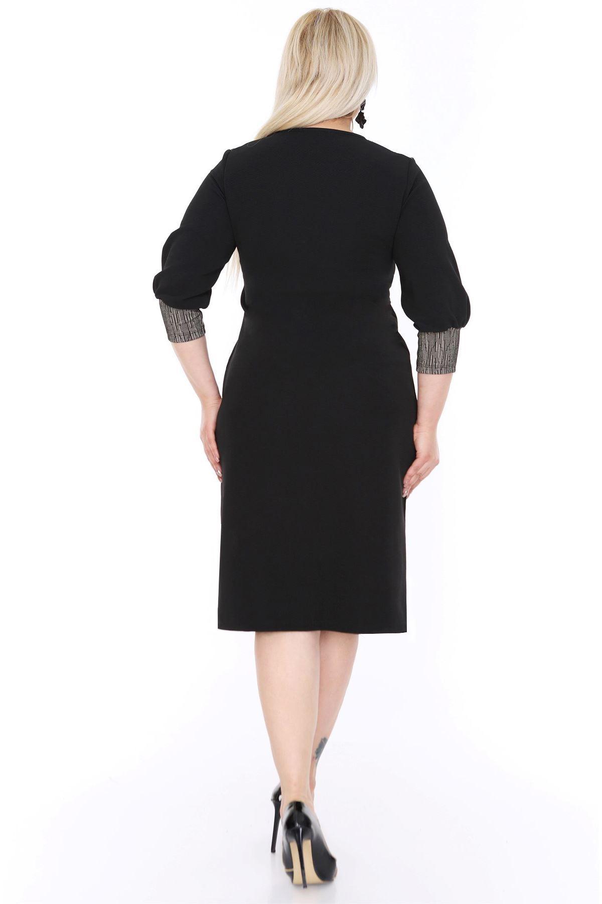 Manşet Kollu Elbise 20L-0448