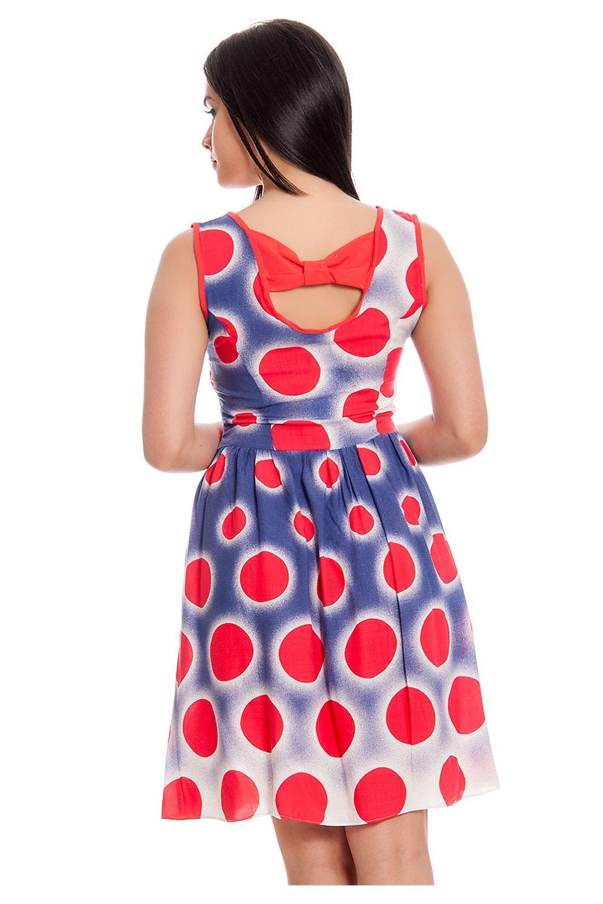Mavi Mercan Desenli Kadın Elbise H9-130354