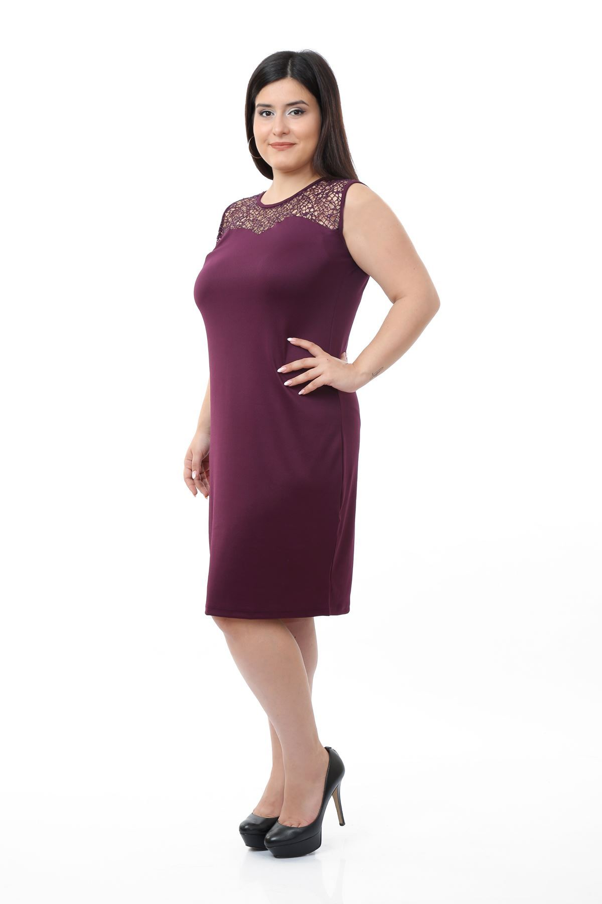 Mor Kolsuz Elbise 6D-0651