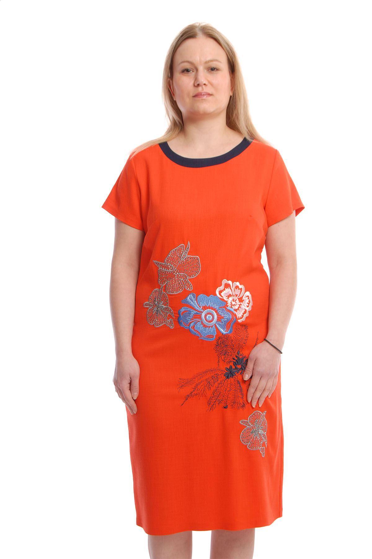 Nakışlı Elbise K4-66609