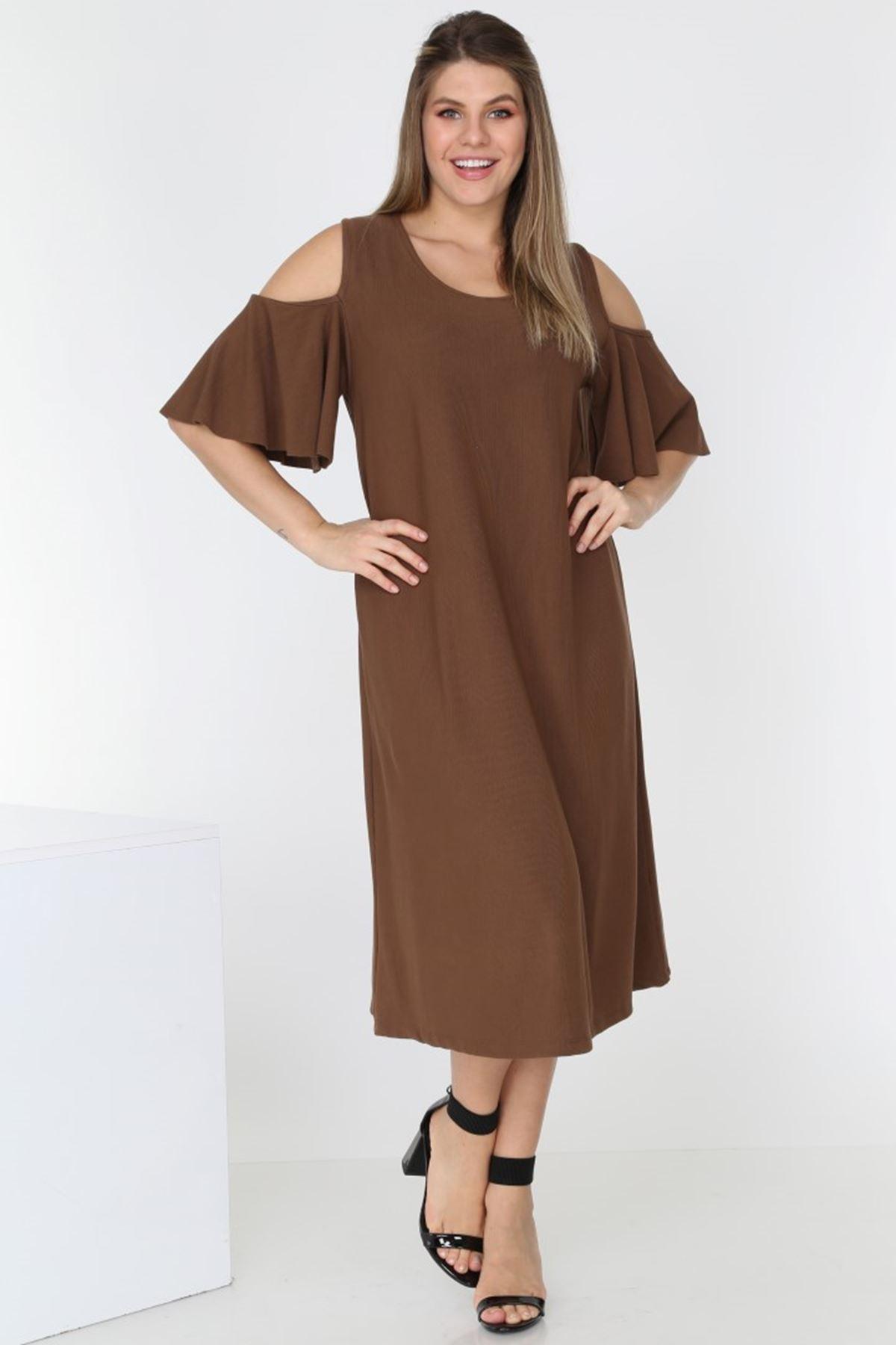 Omuzu Açık Elbise 1E-0538