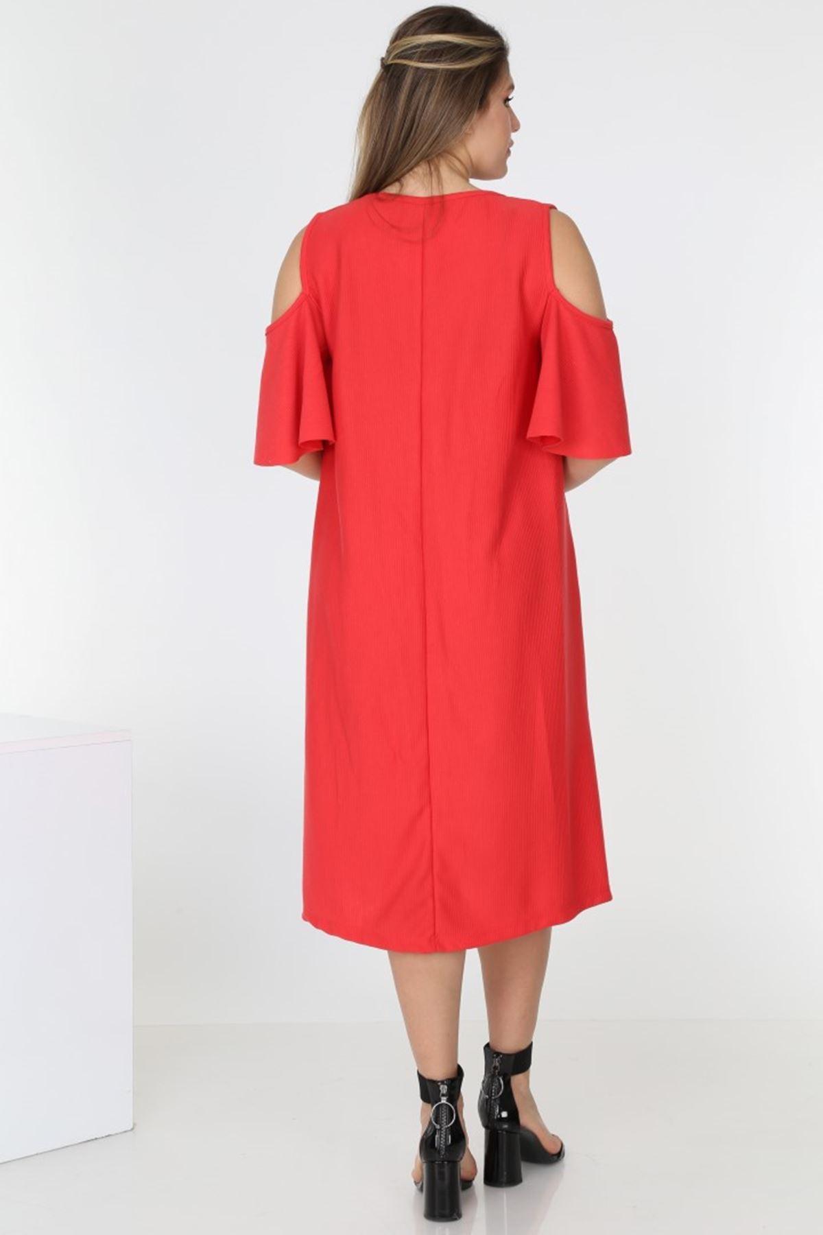 Omuz Açık Yazlık Elbise 1E-0539