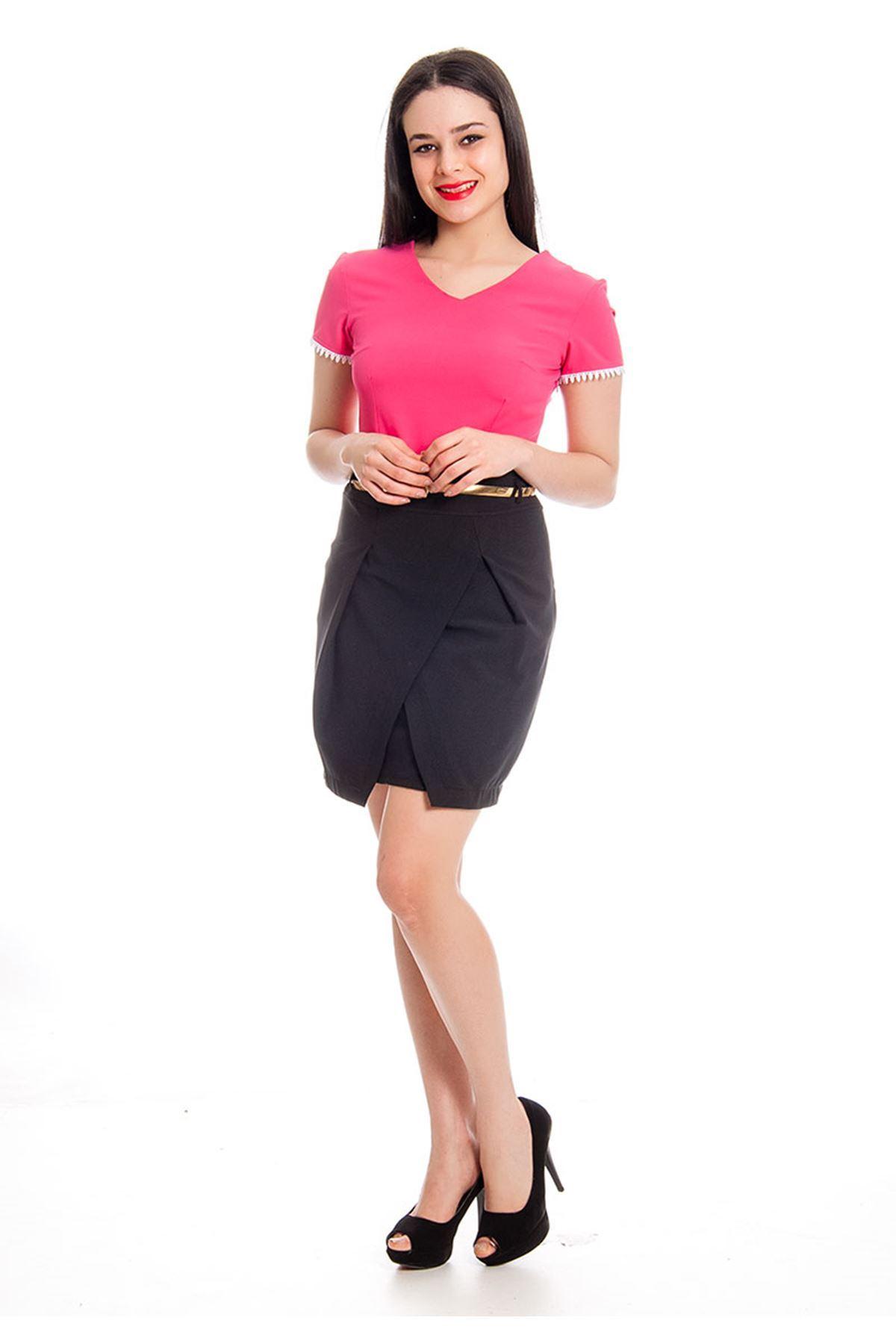 Pembe Lacivert Kadın Elbise J2-130498