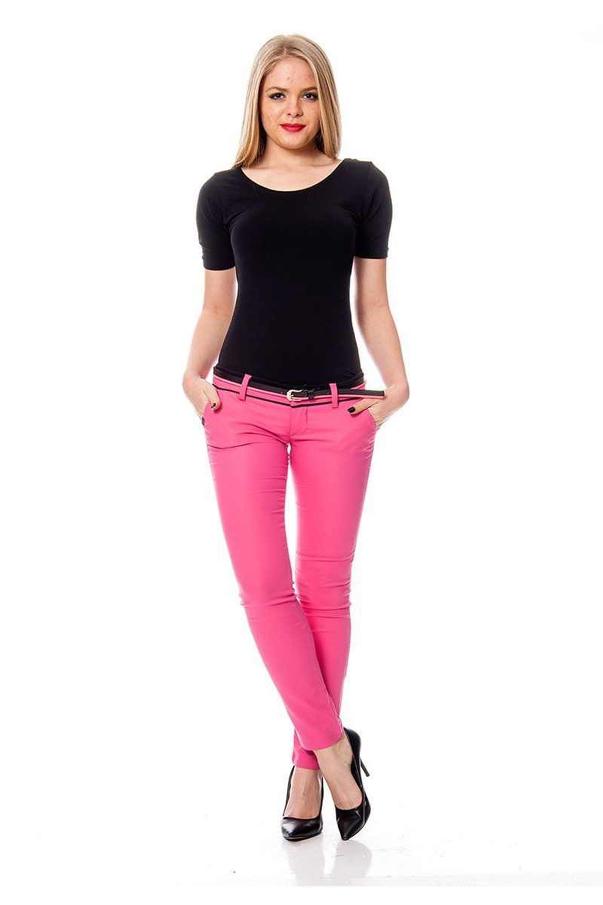 Pembe Kemerli Kadın Pantolon K11-111757