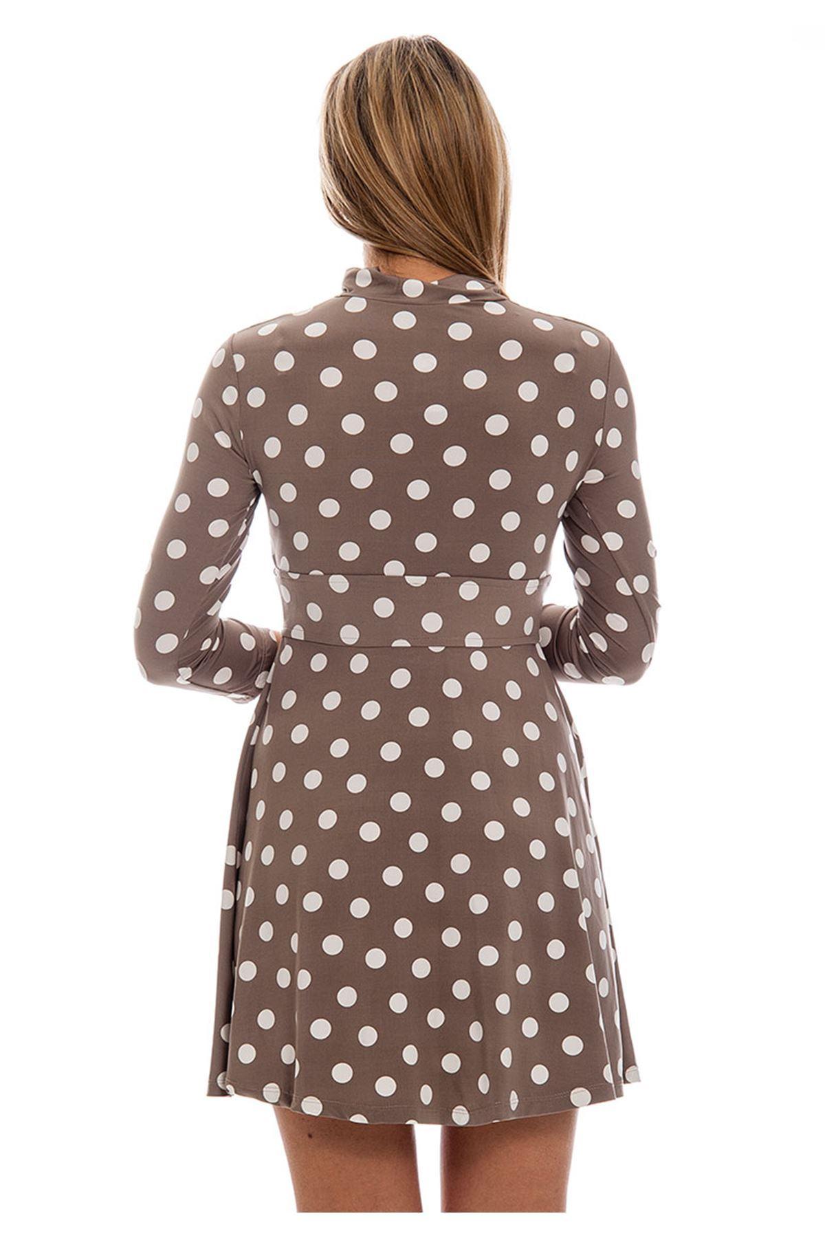 Puanlı Çıt Çıtlı Kadın Elbise J11-121279
