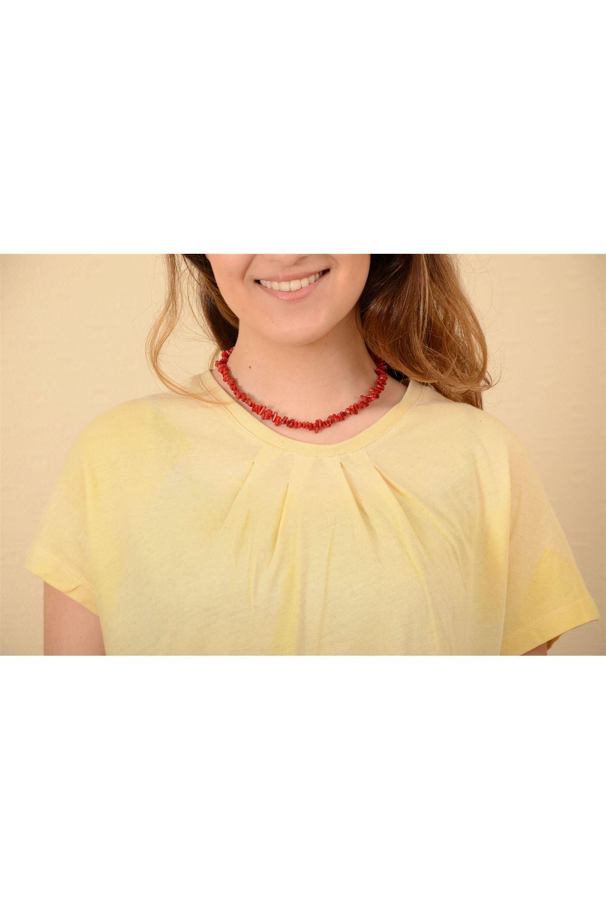 Sedef - Pileli Kısa Kollu Tshirt K1010