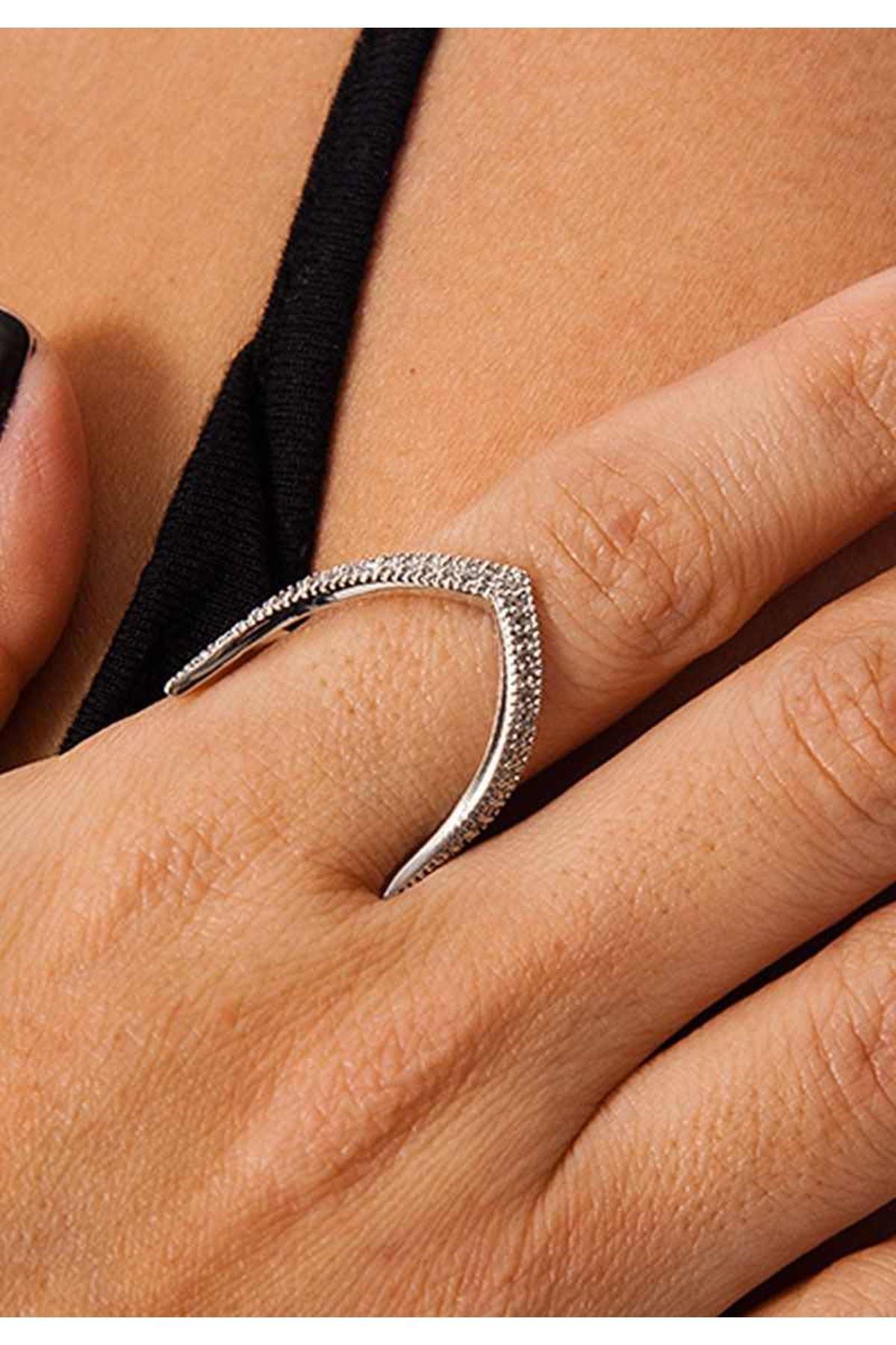 Silver Taşlı Yüzük 1Ç-109094