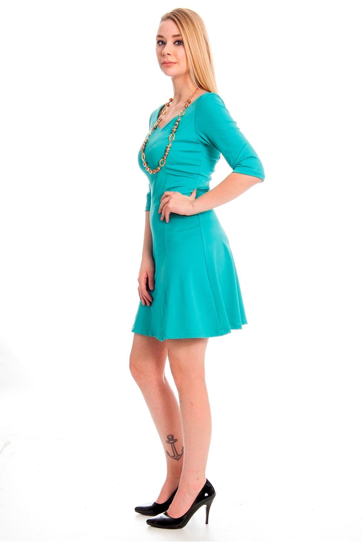 Sırtı Açık Elbise J5-128049