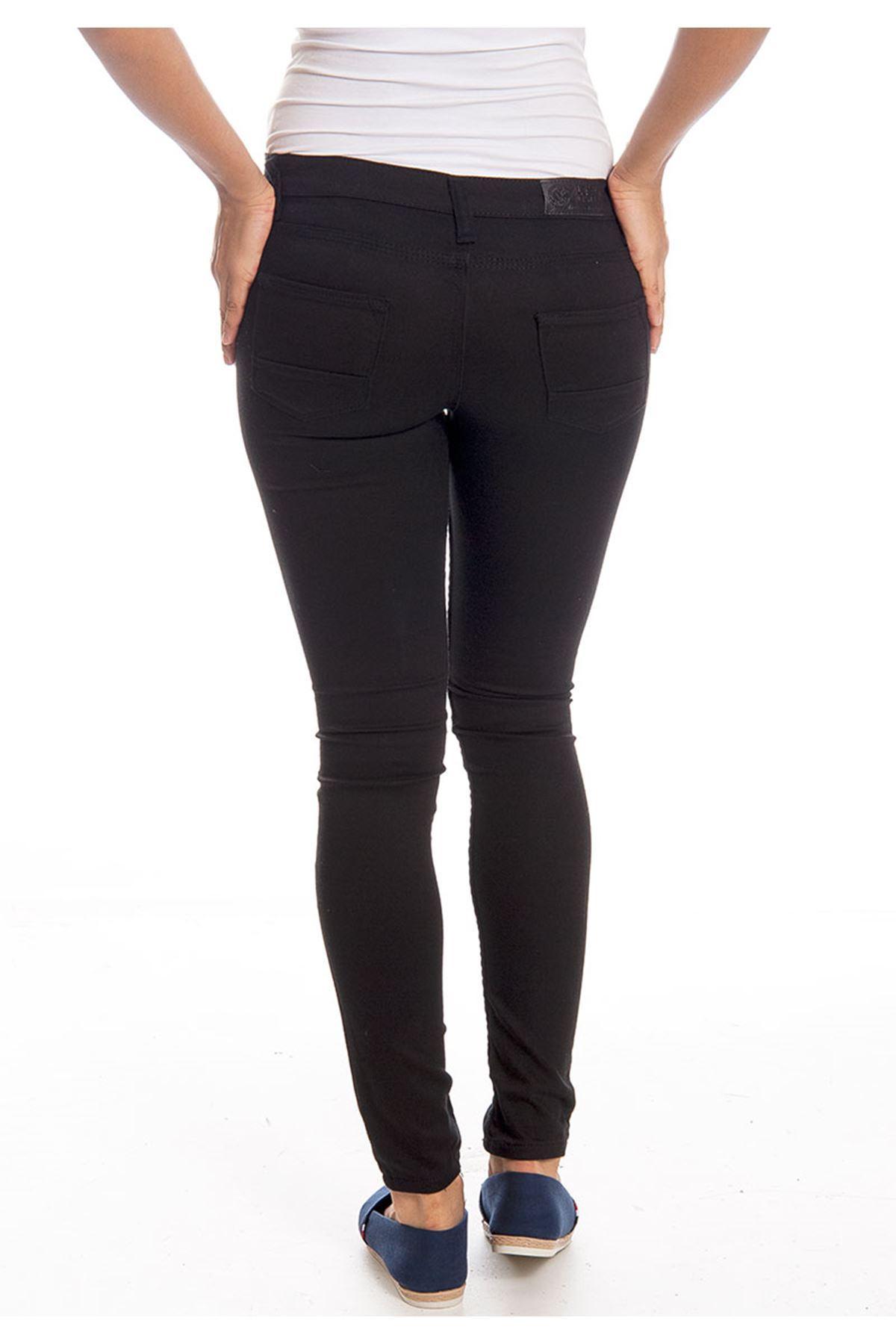 Siyah Dar Paça Kadın Pantolon 4A-126042