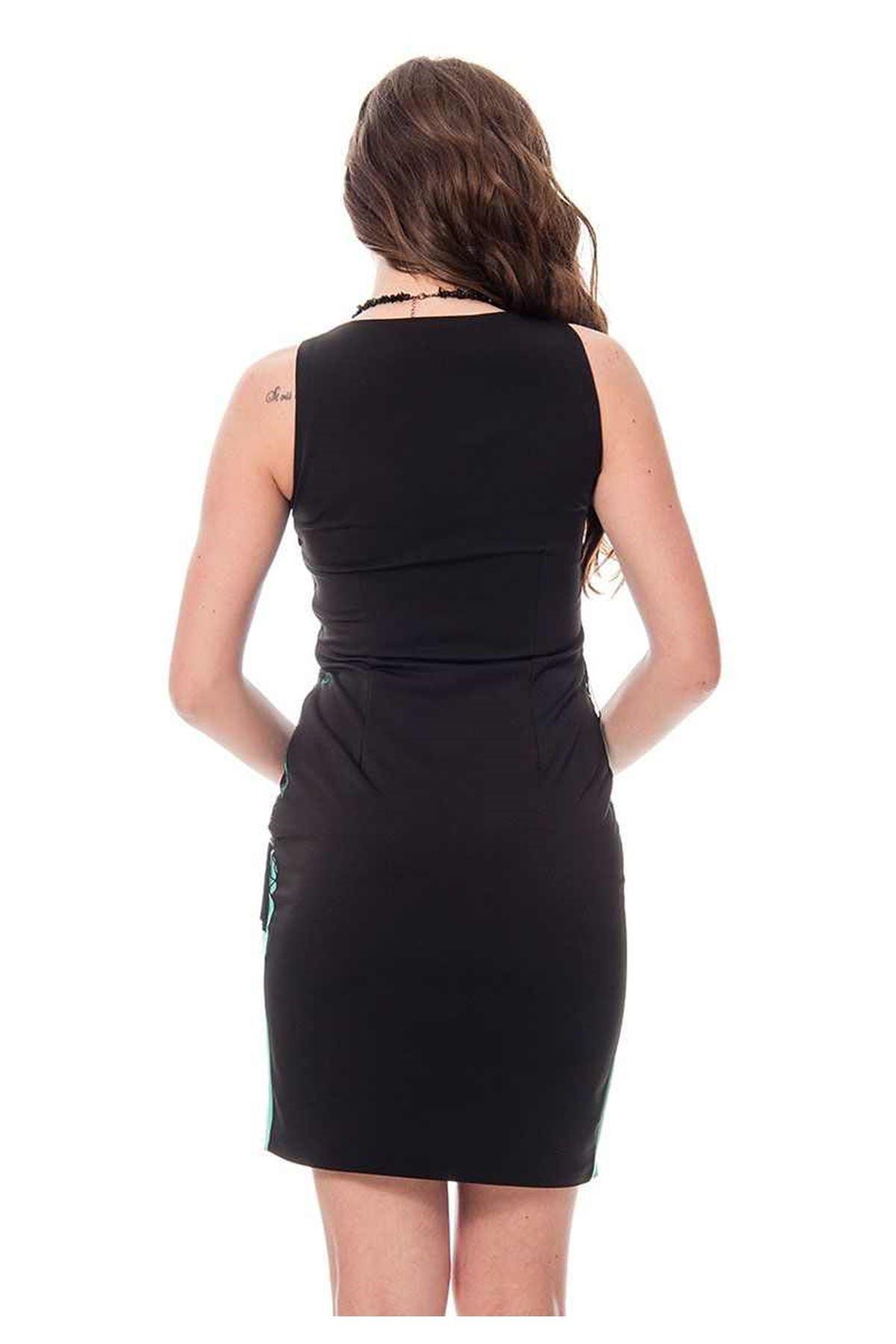 Siyah Püsküllü Elbise G6-115326