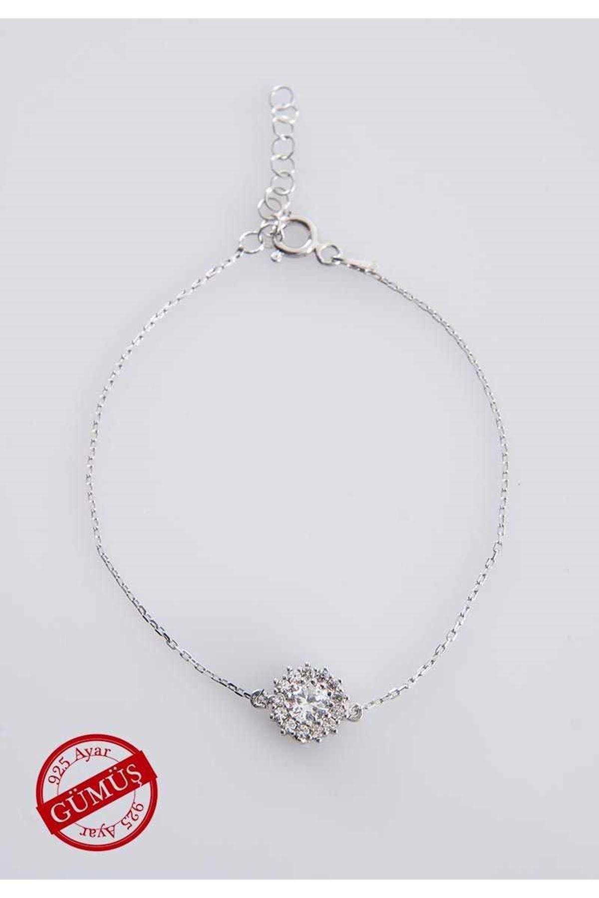Taşlı Gümüş Bileklik G-75062