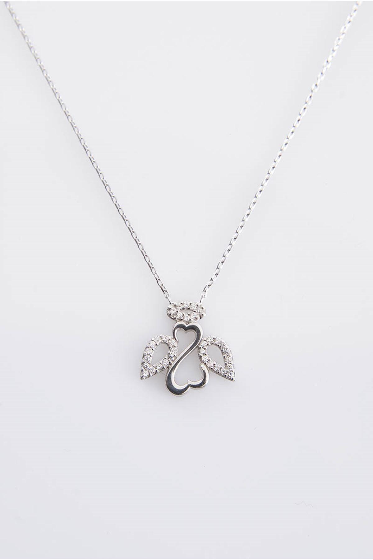 Taşlı Gümüş Kolye Gk-77402