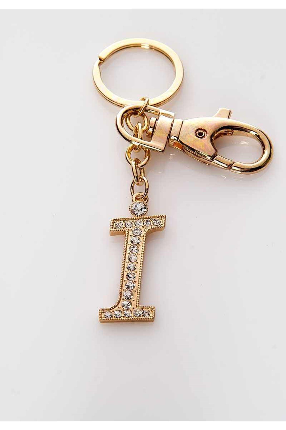 Taşlı İ Harf Anahtarlık 3Ç-108991