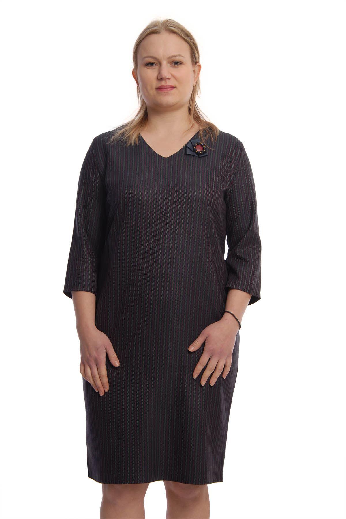 V Yaka Elbise H7-65845