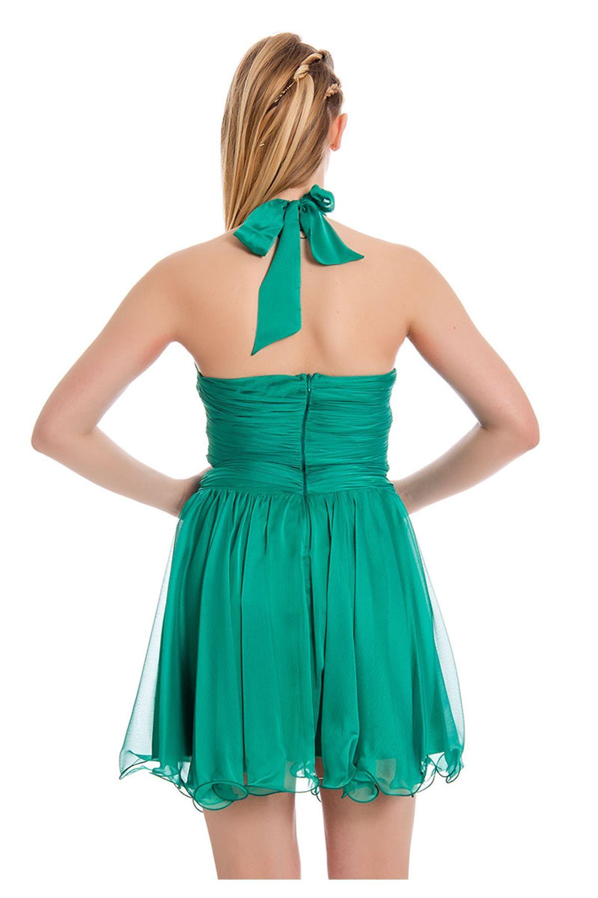 Yeşil Abiye Elbise F12-128057