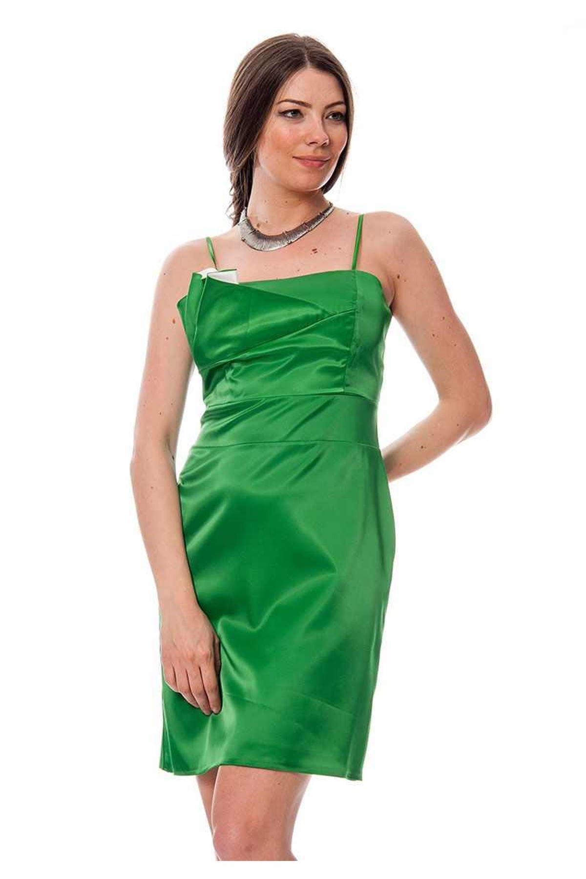 Yeşil Saten Abiye K7-116148
