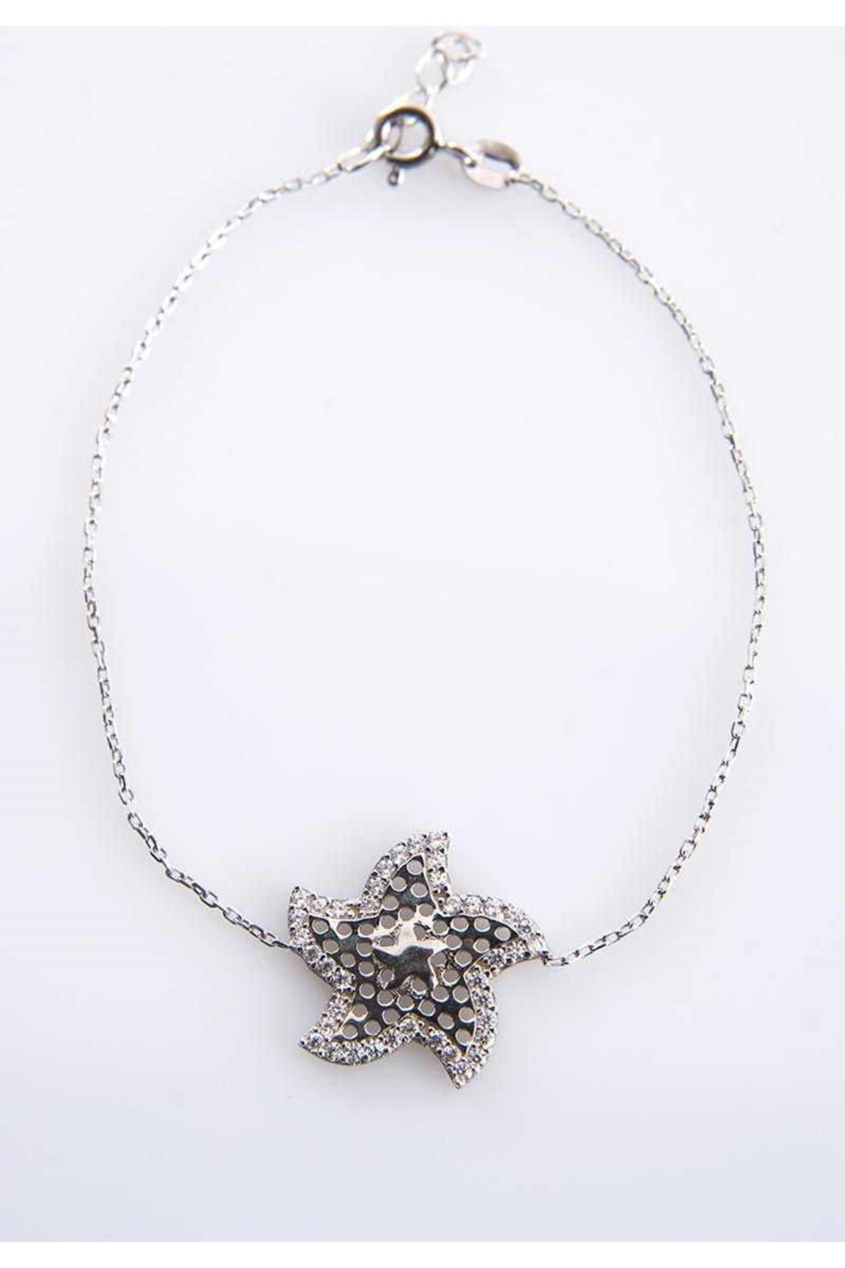 Yıldız Gümüş Bileklik G-77464