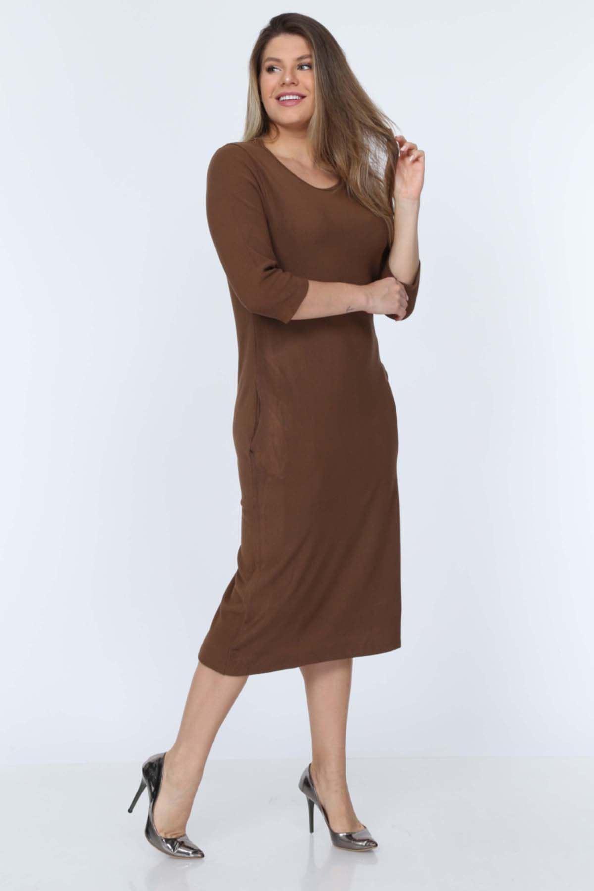 Cepli Kahverengi Elbise 11E-0712