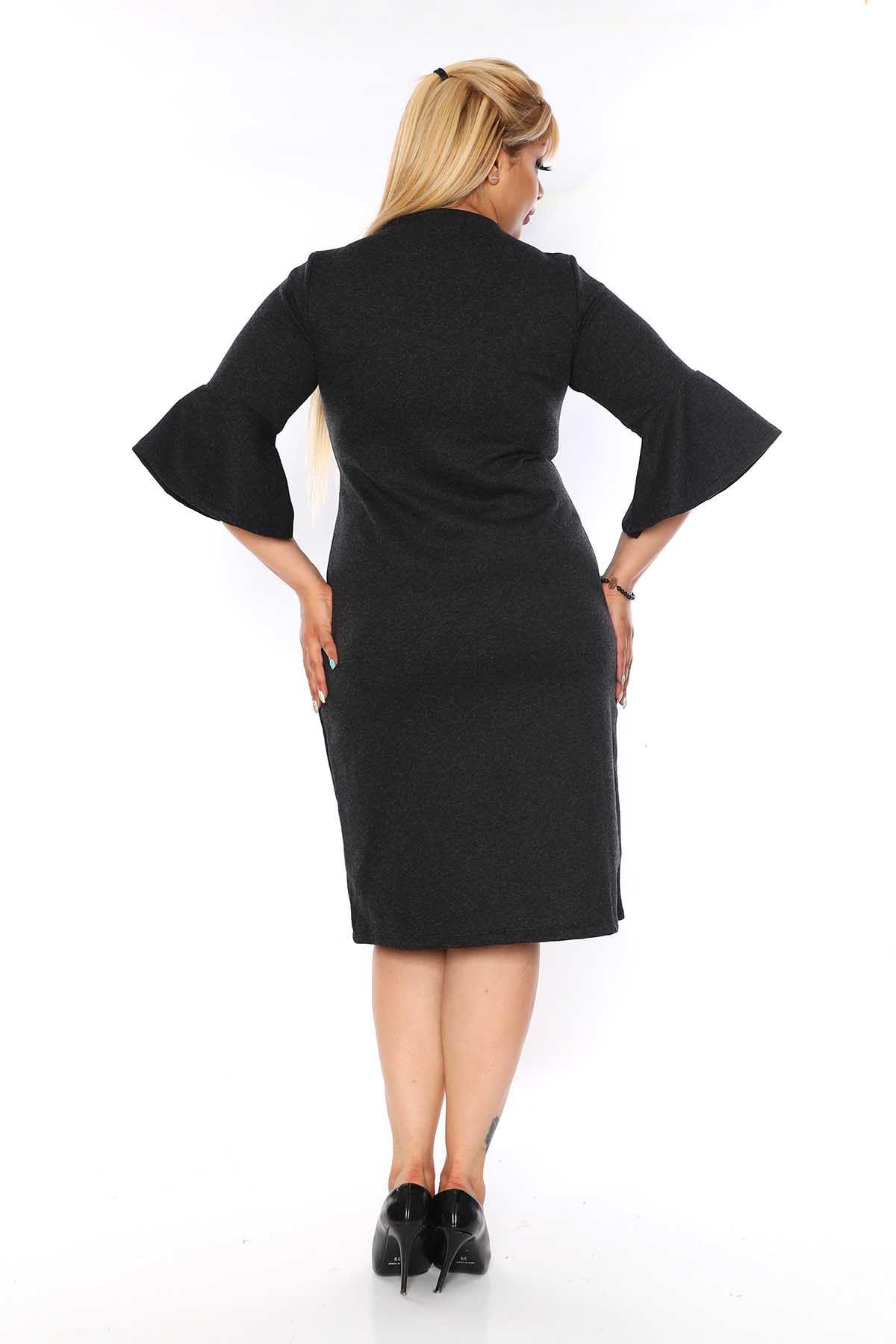 Kruvaze Yaka Elbise 4D-0752