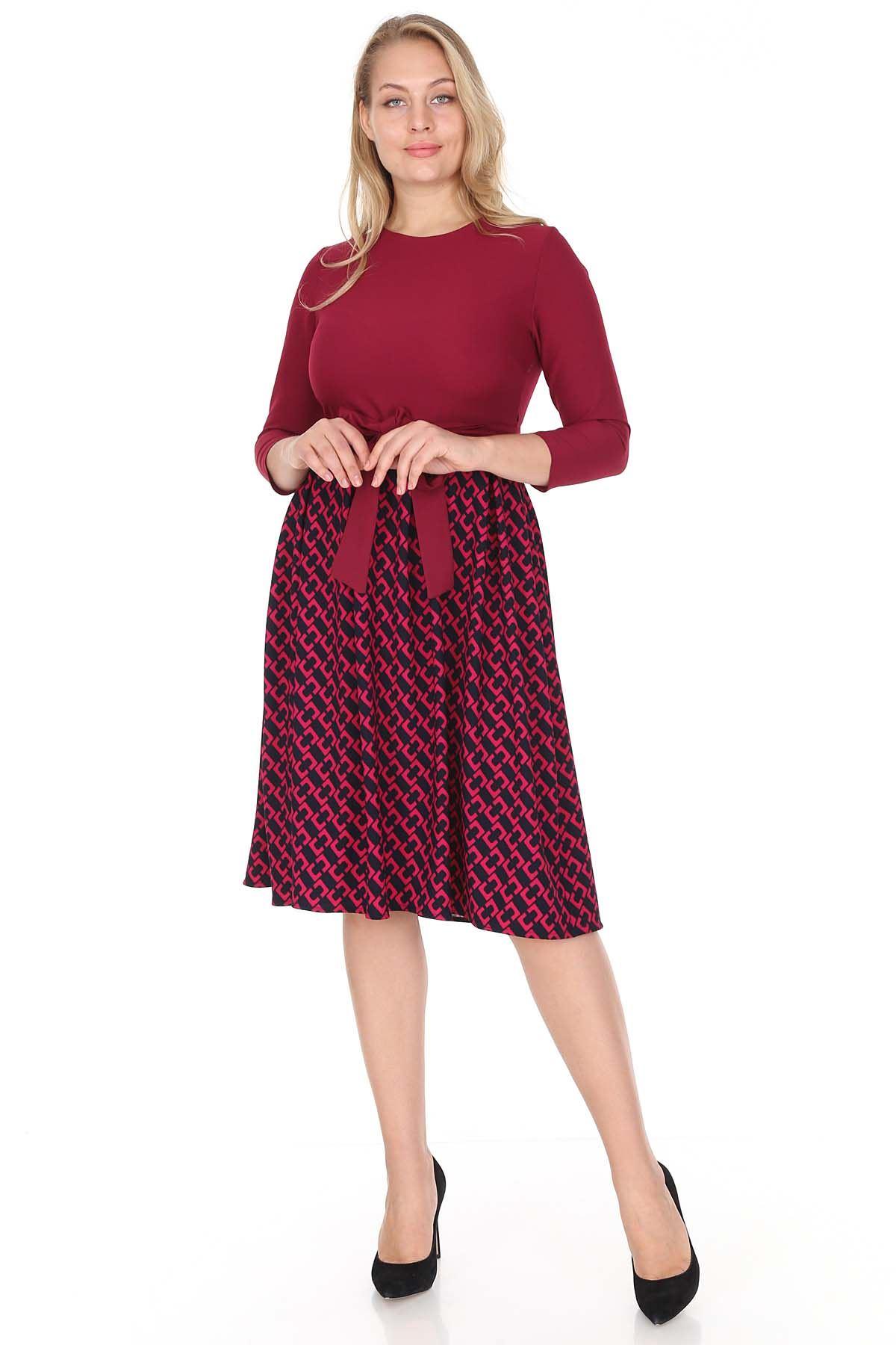 Vişne Kloş Elbise 25B-0944